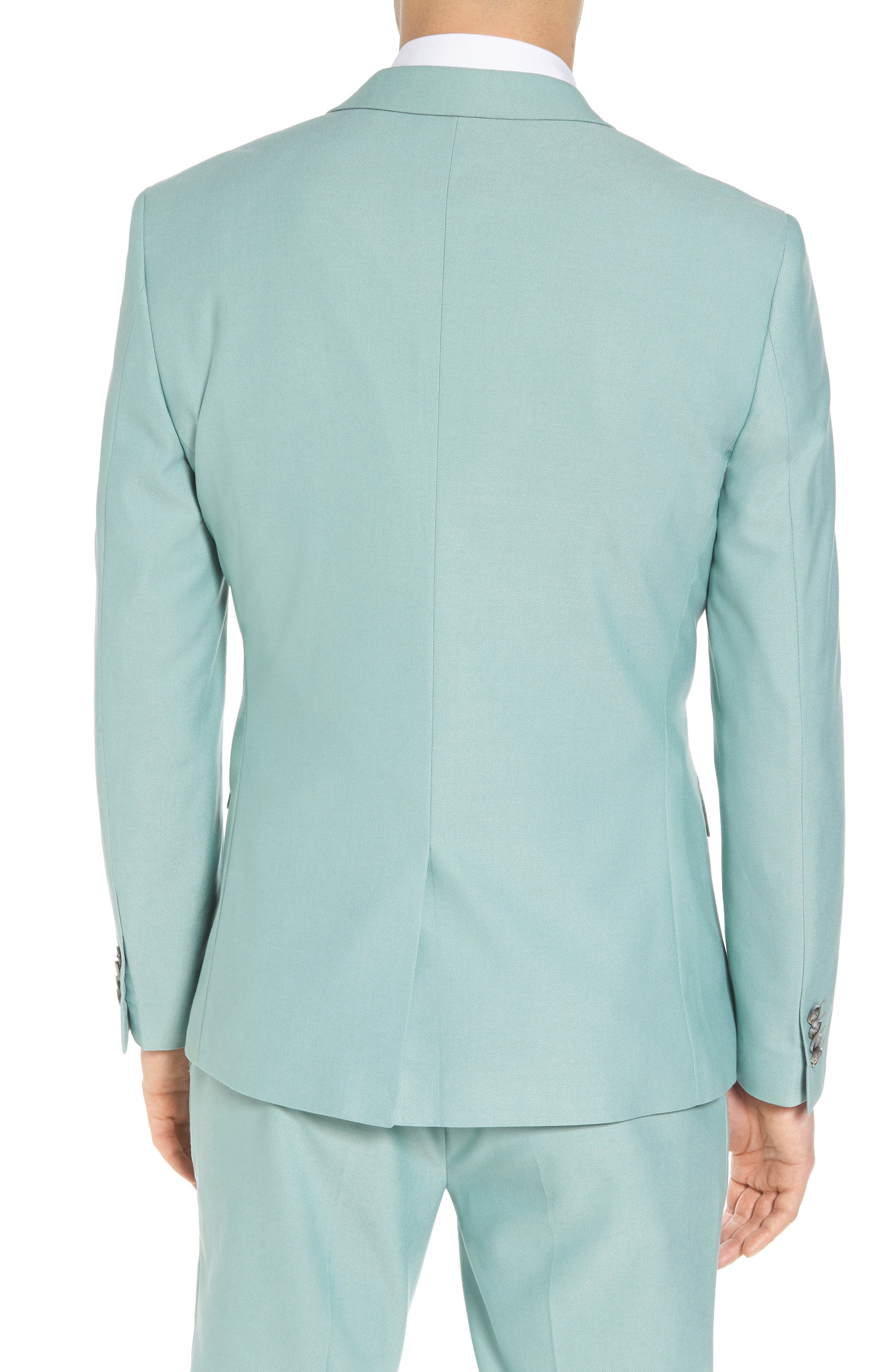 Skinny Fit Suit Jacket,                             Alternate thumbnail 3, color,                             Green