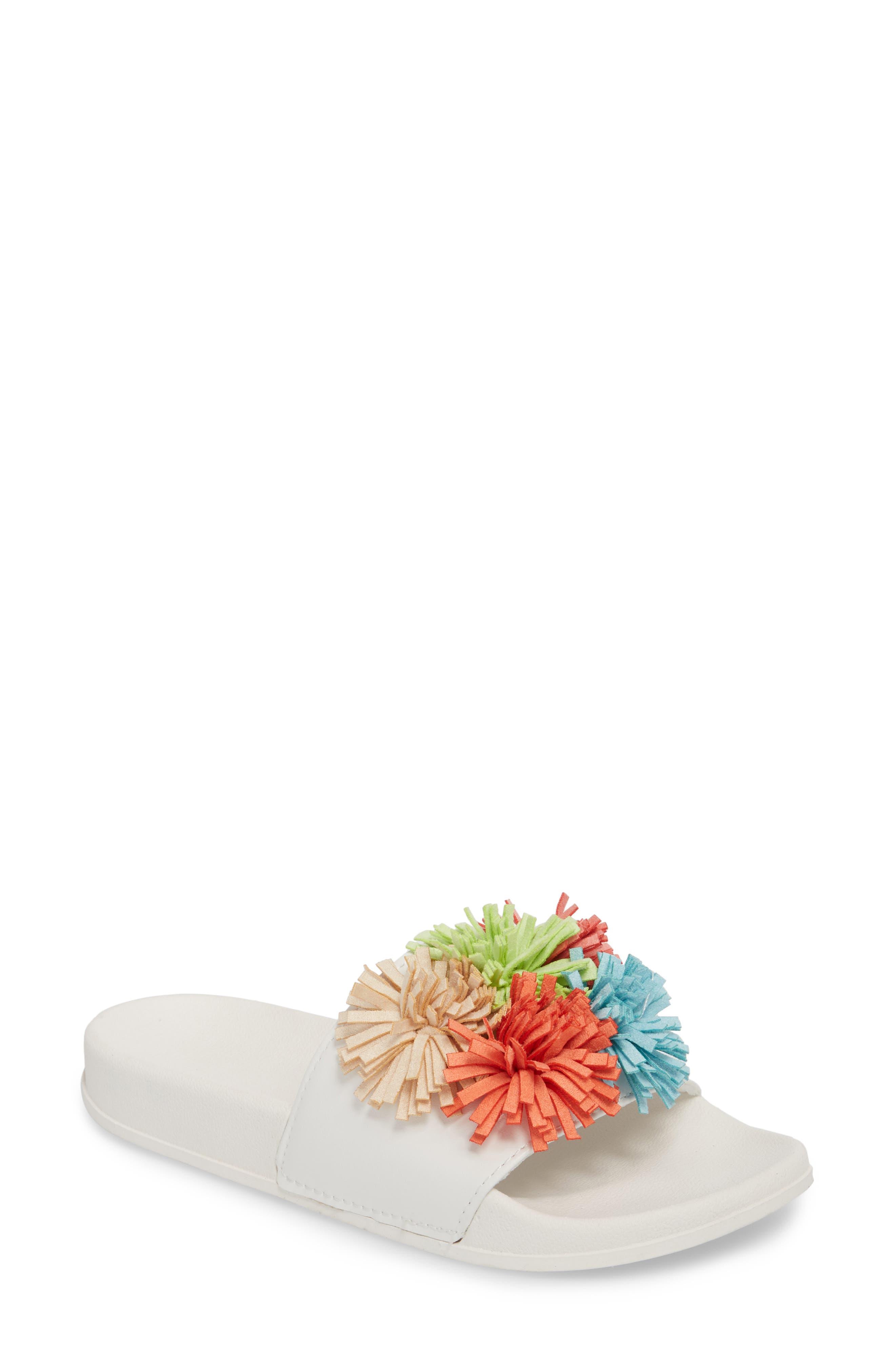Ace Slide Sandal,                         Main,                         color, White