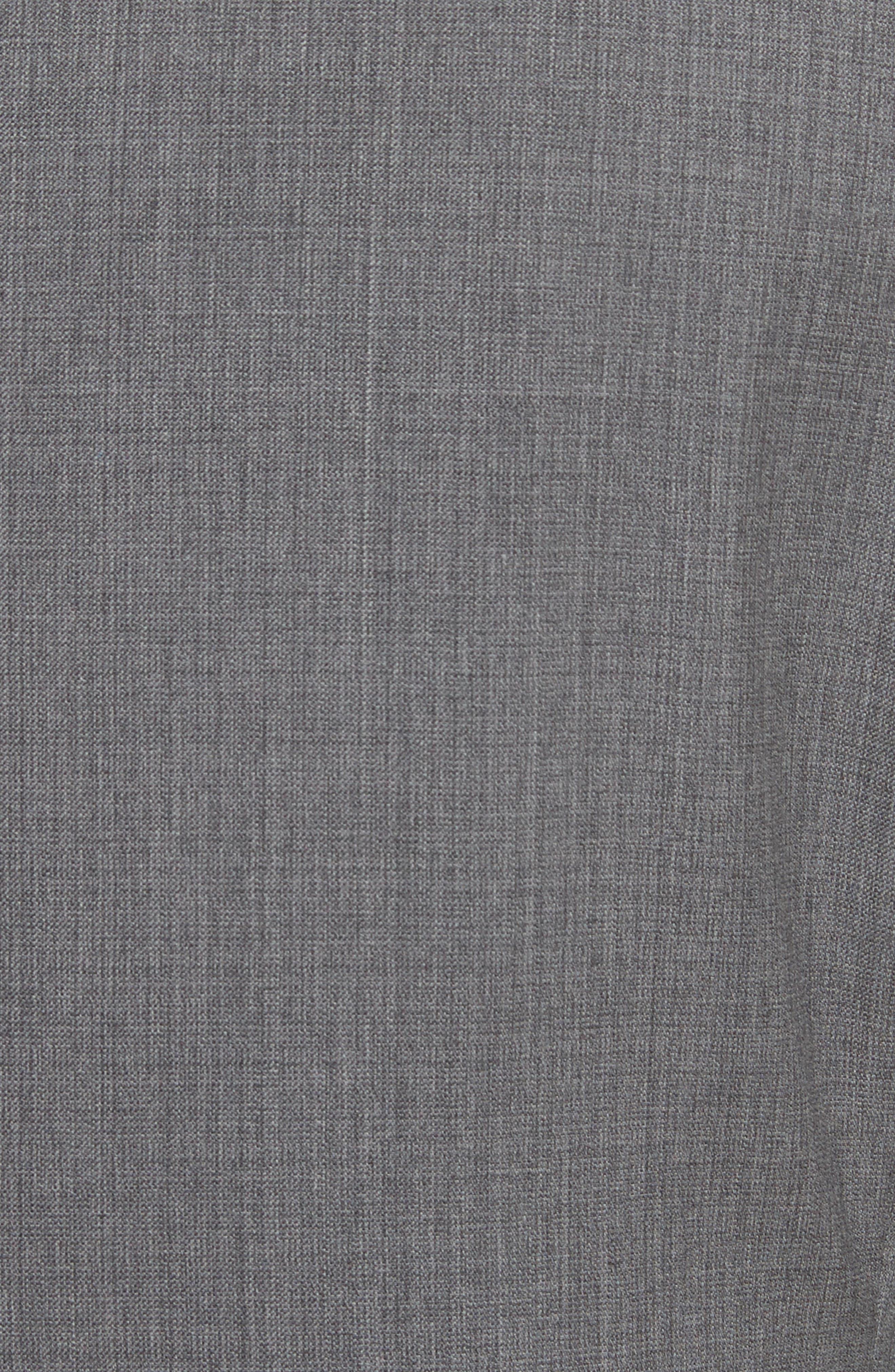 Trim Fit Sharkskin Wool Suit,                             Alternate thumbnail 7, color,                             Grey