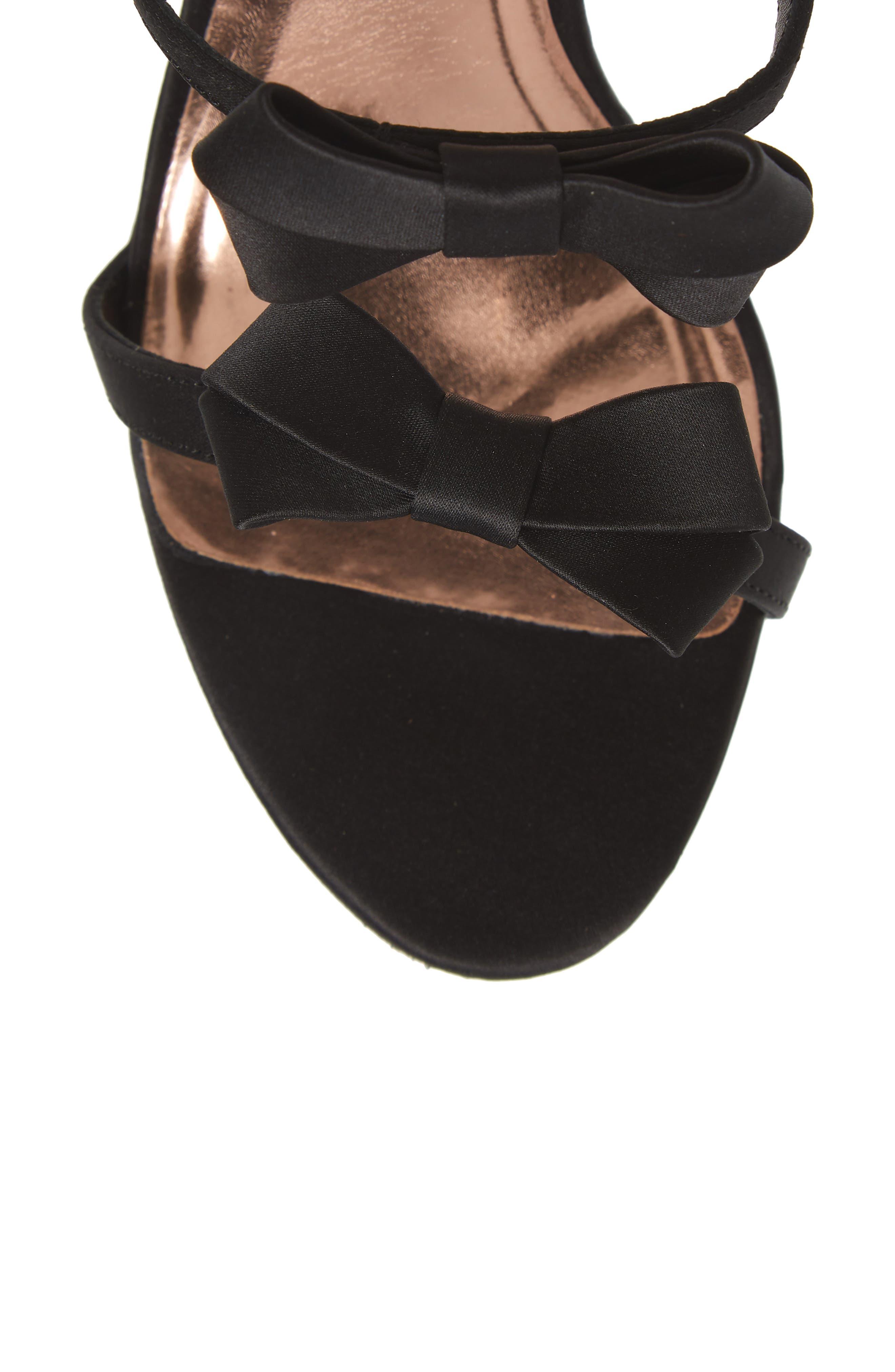 Nuscala Sandal,                             Alternate thumbnail 5, color,                             Black Satin