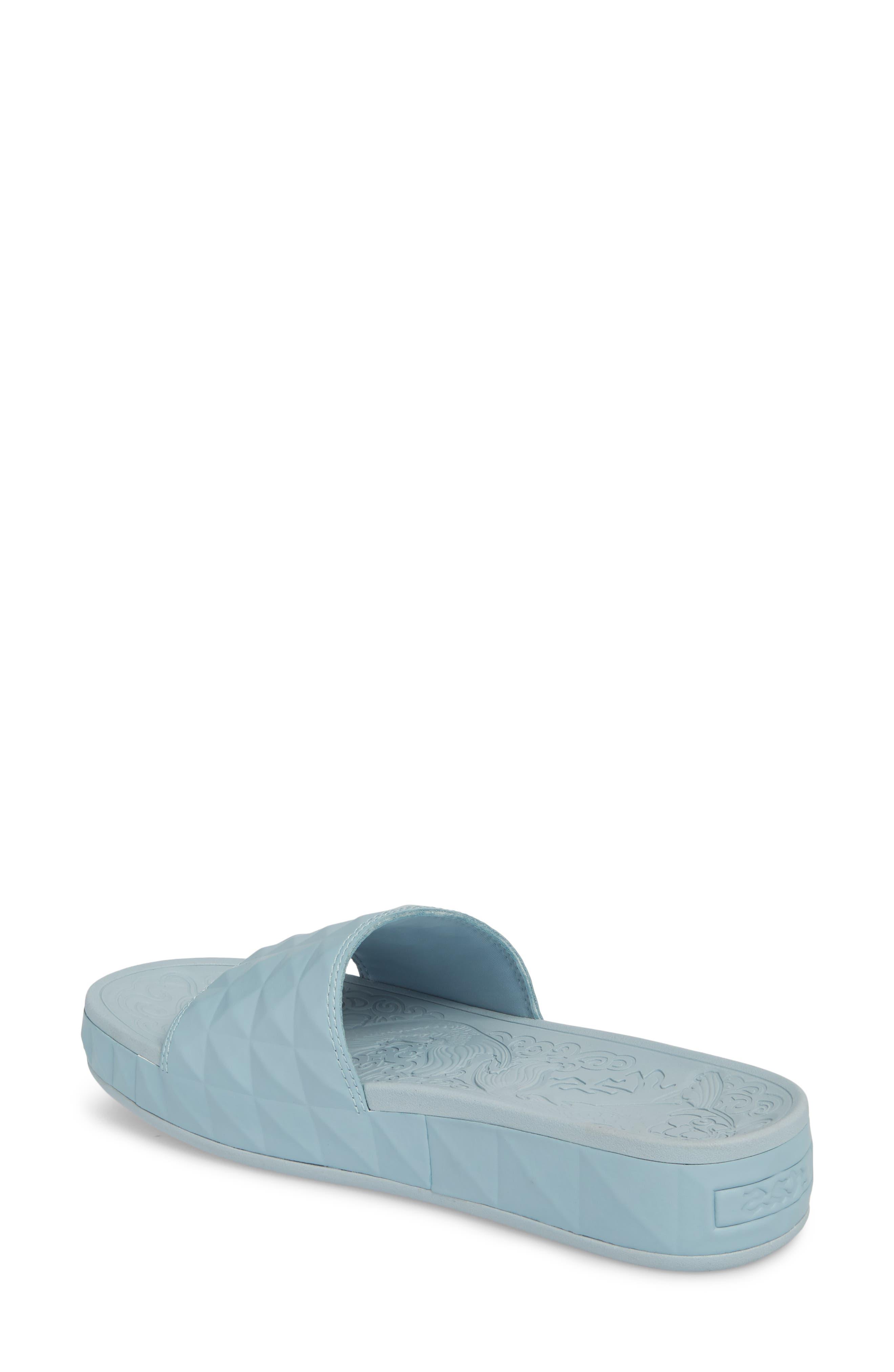 Splash Geo Slide Sandal,                             Alternate thumbnail 2, color,                             Ice Blue