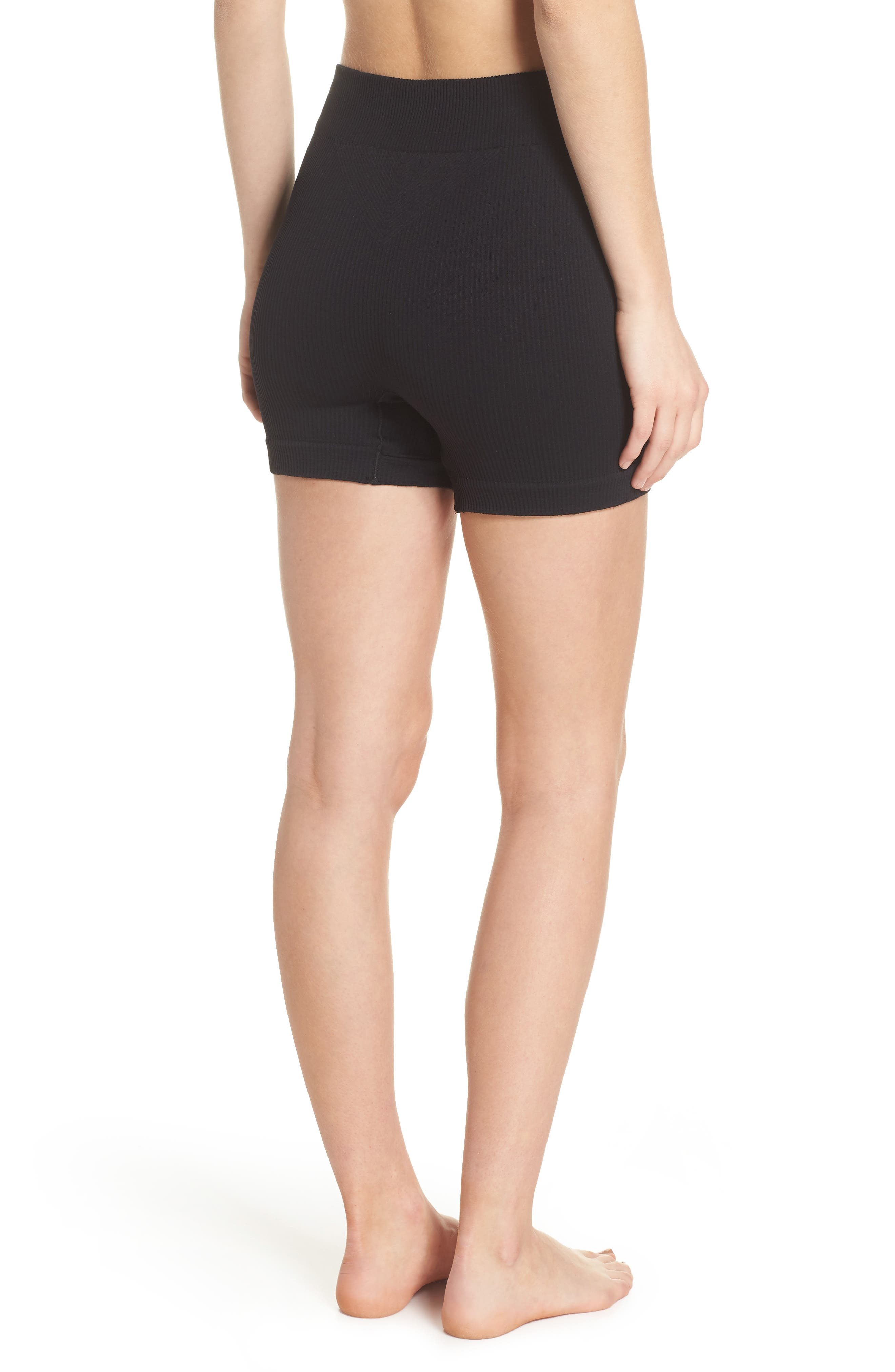 Free People Seamless Shorts,                             Alternate thumbnail 2, color,                             Black