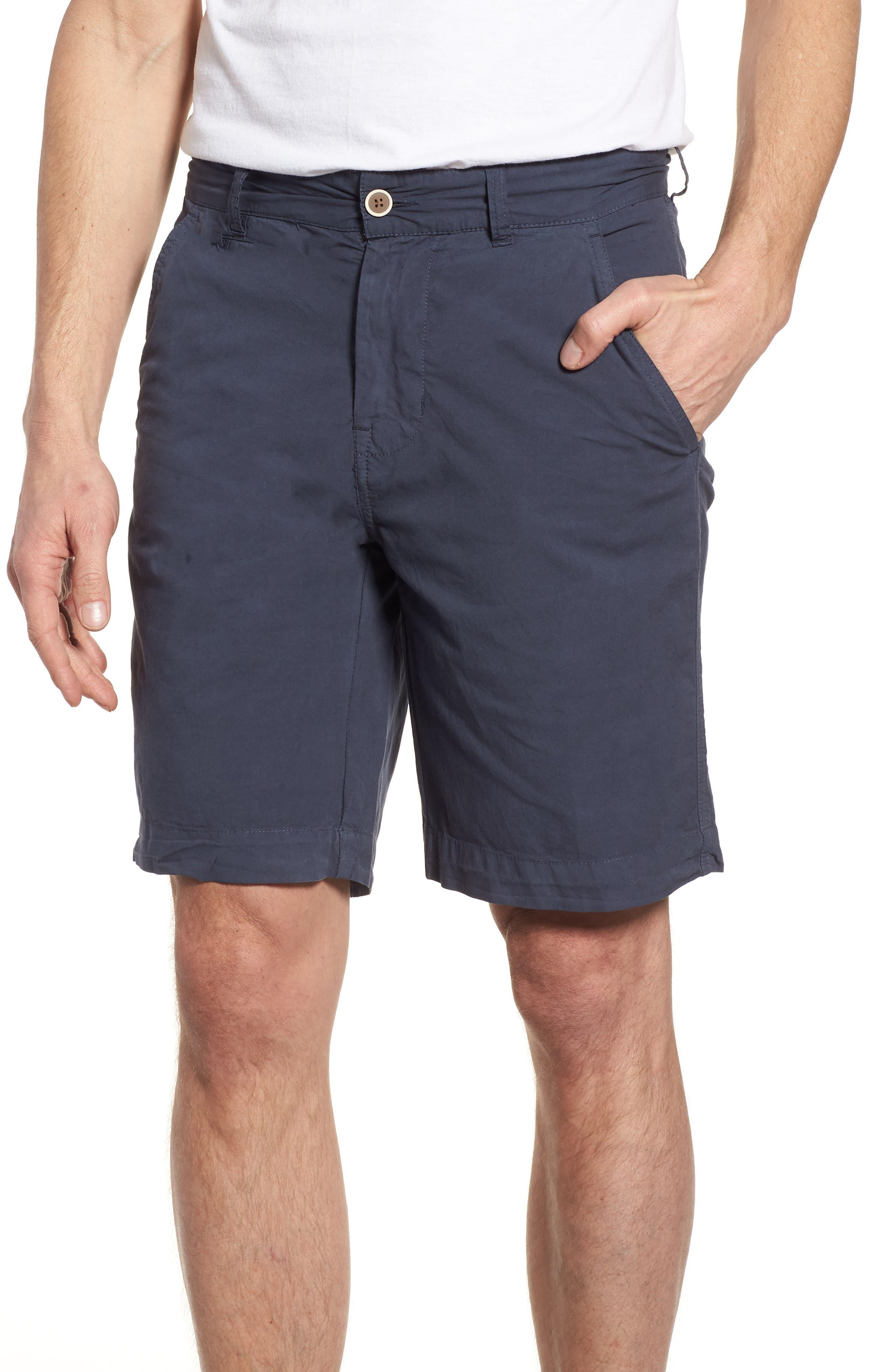Stretch Poplin Shorts,                             Main thumbnail 1, color,                             Navy