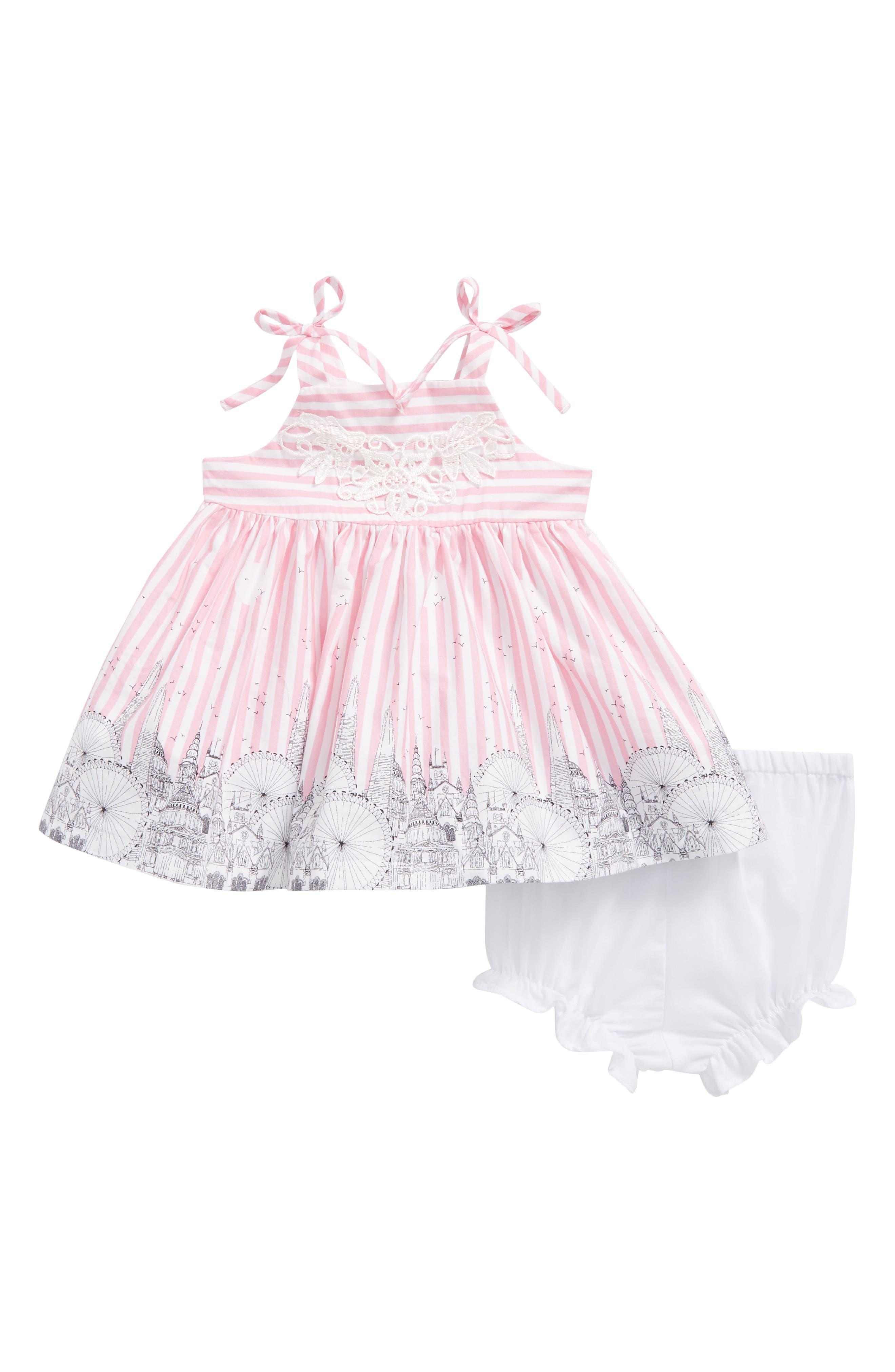 Alternate Image 1 Selected - Pippa & Julie Carnival Border Sundress (Baby Girls)