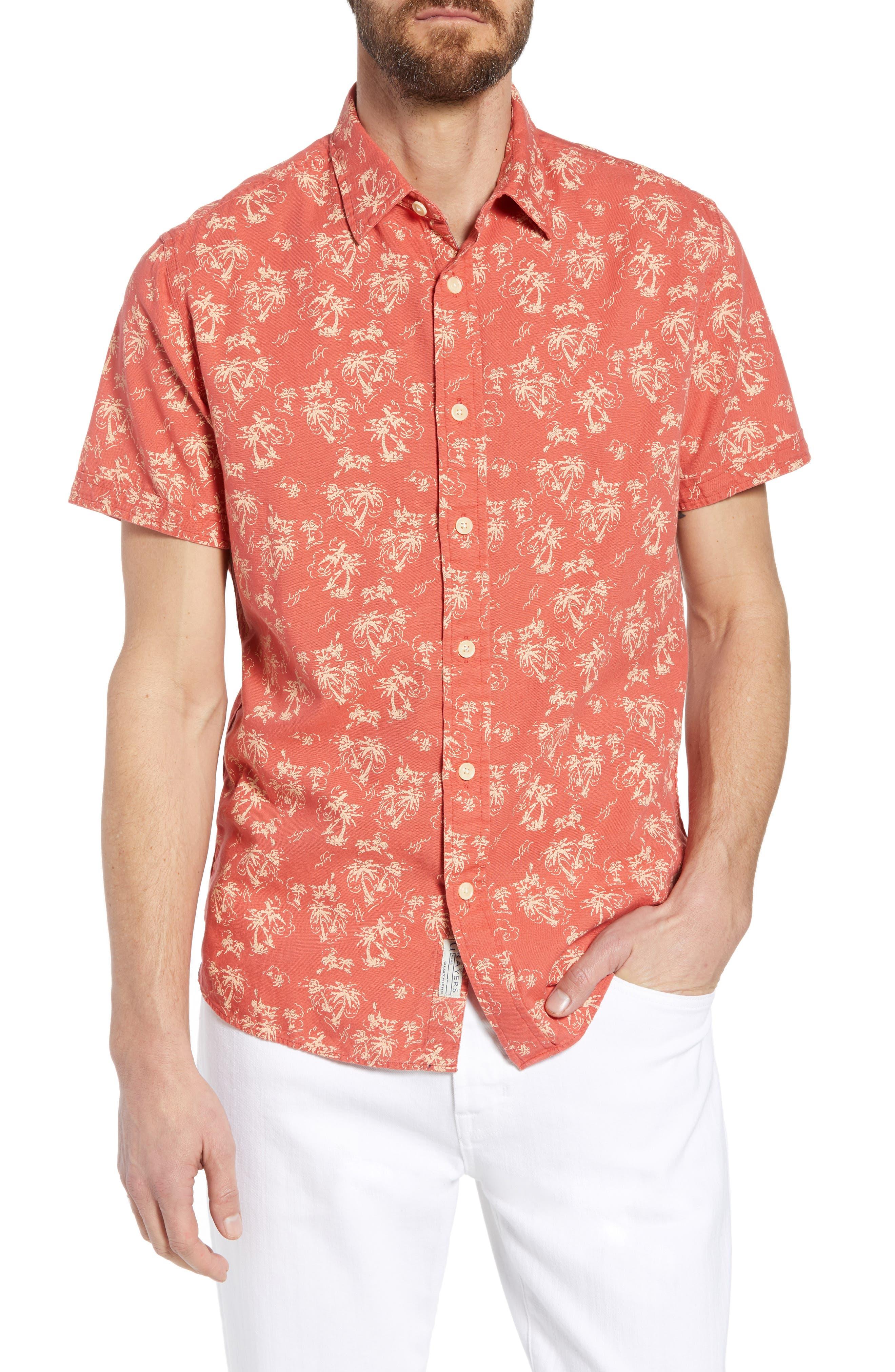 Grayers Red Palm Island Sport Shirt
