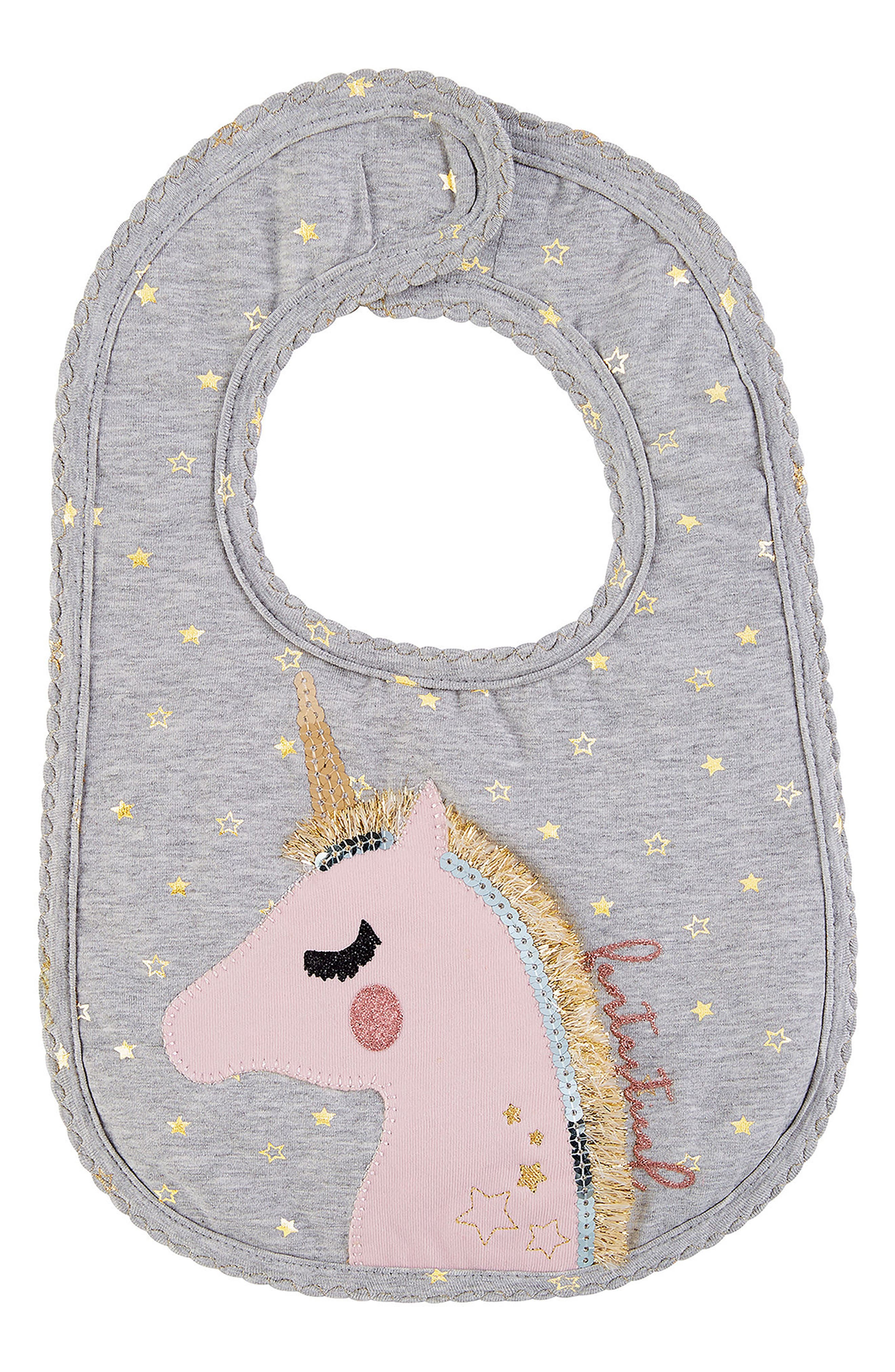 Mud Pie Unicorn Bib (Baby Girls)