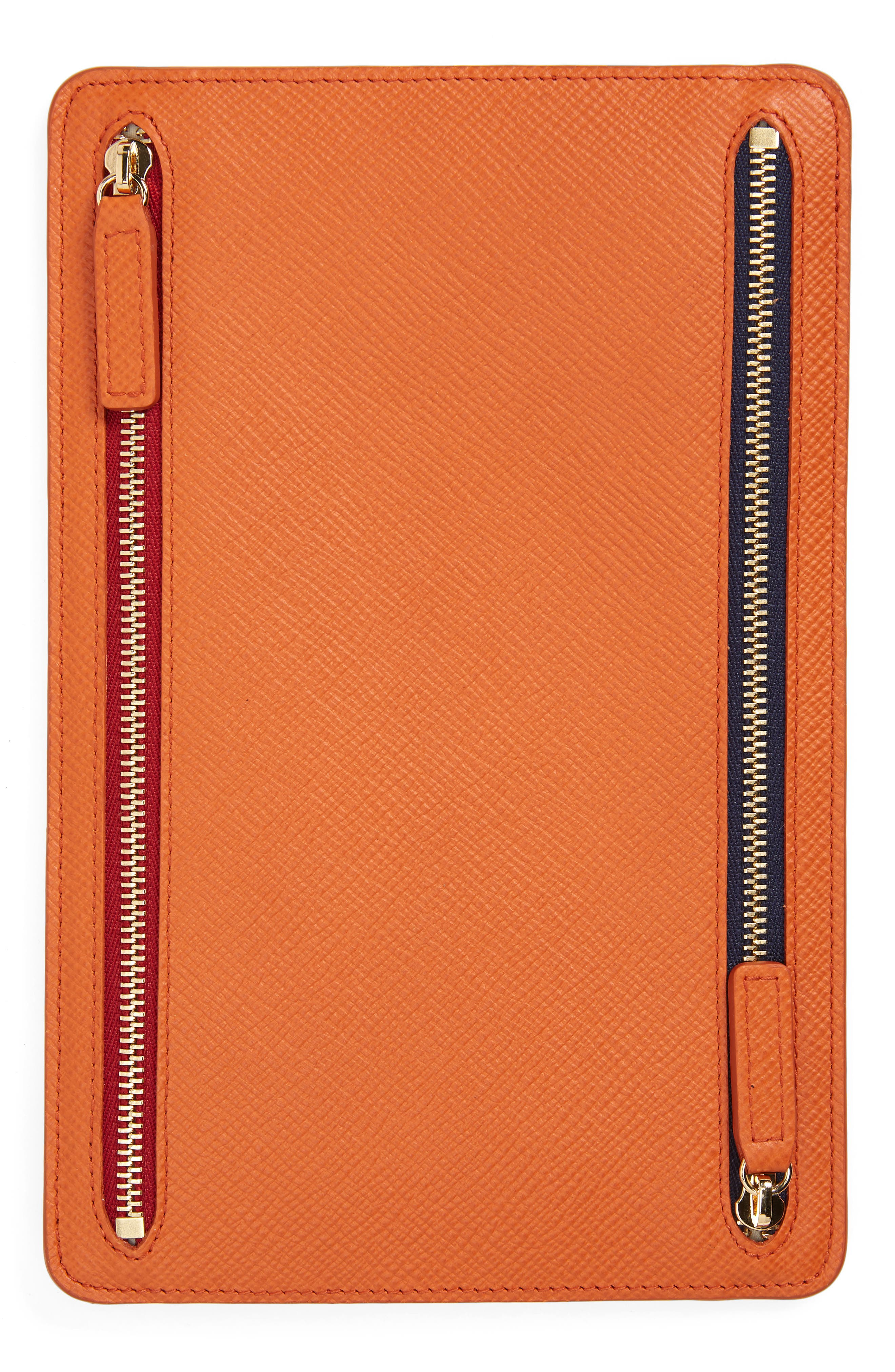 Panama Leather Currency Case,                             Alternate thumbnail 4, color,                             Papaya