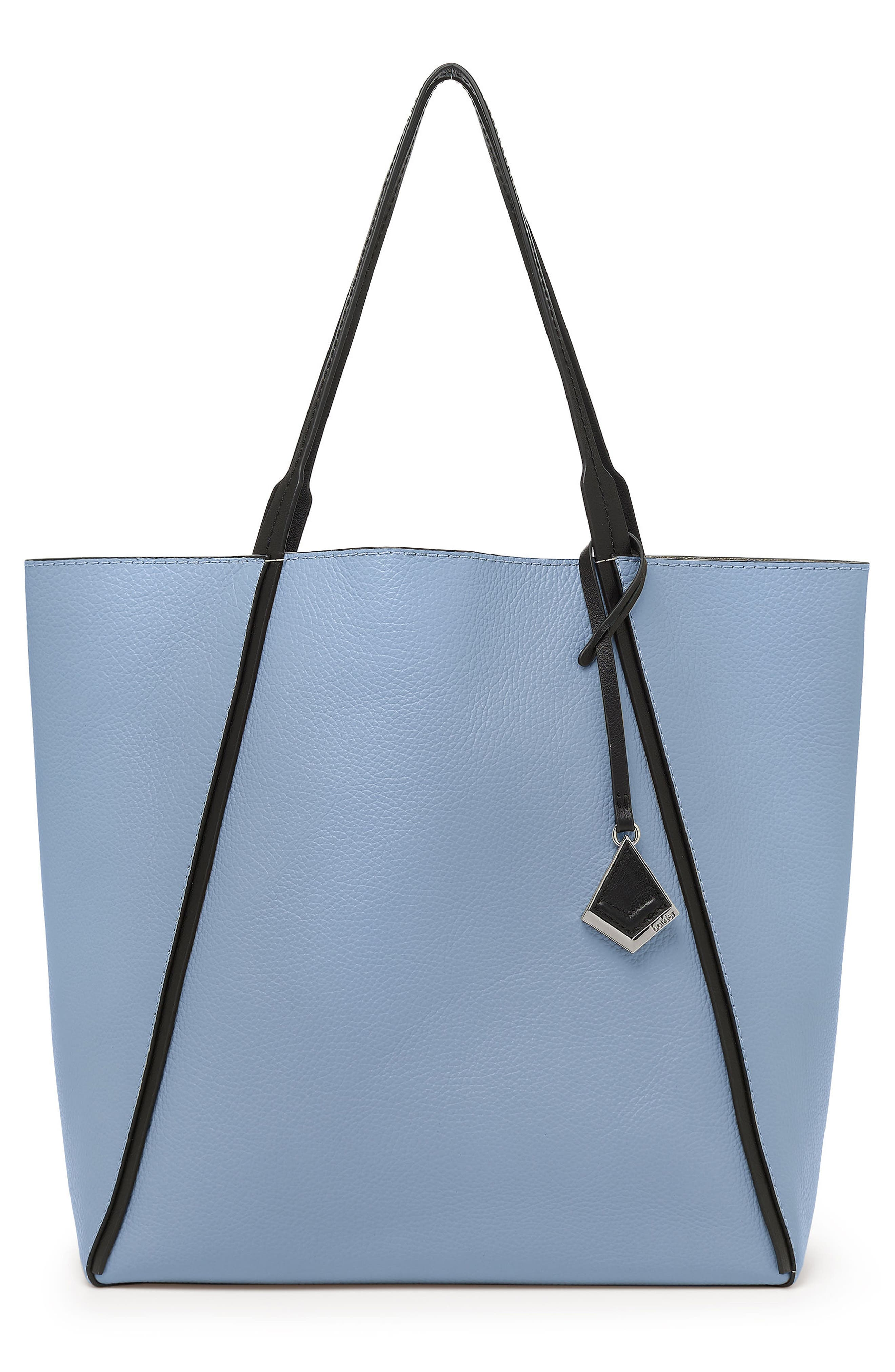 TRINITY CALFSKIN LEATHER TOTE - BLUE