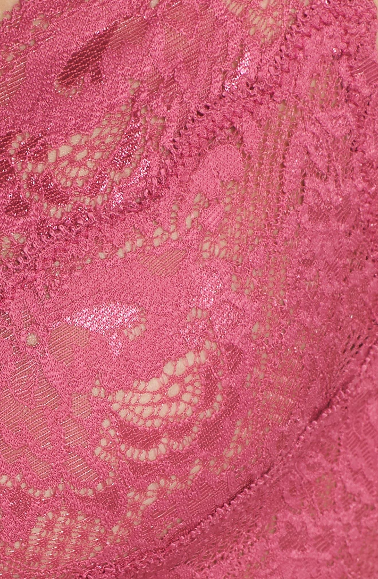 'Never Say Never Sweetie' Bralette,                             Alternate thumbnail 9, color,                             Plum Blossom
