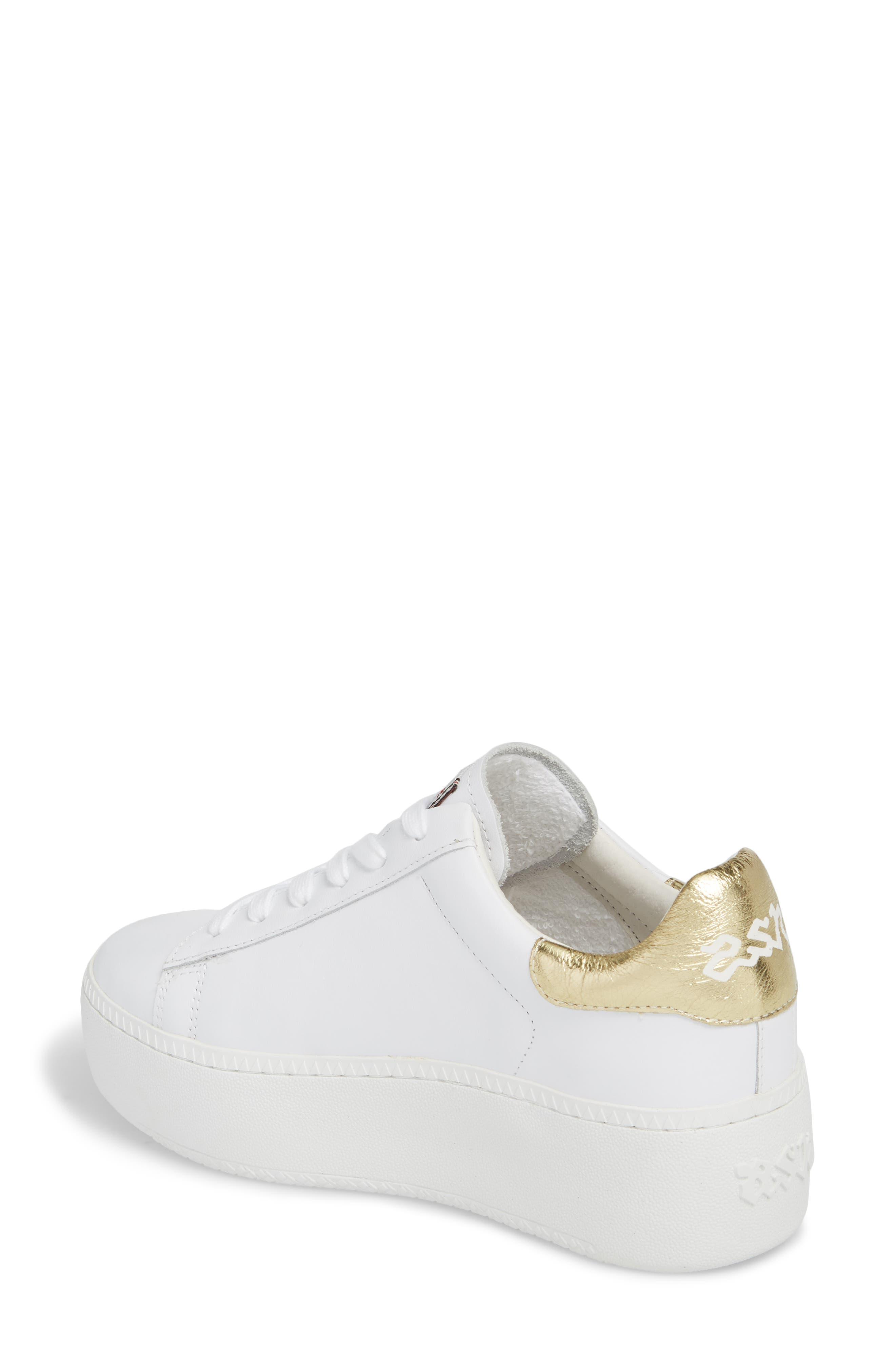 Cult Platform Sneaker,                             Alternate thumbnail 2, color,                             White/ Ariel