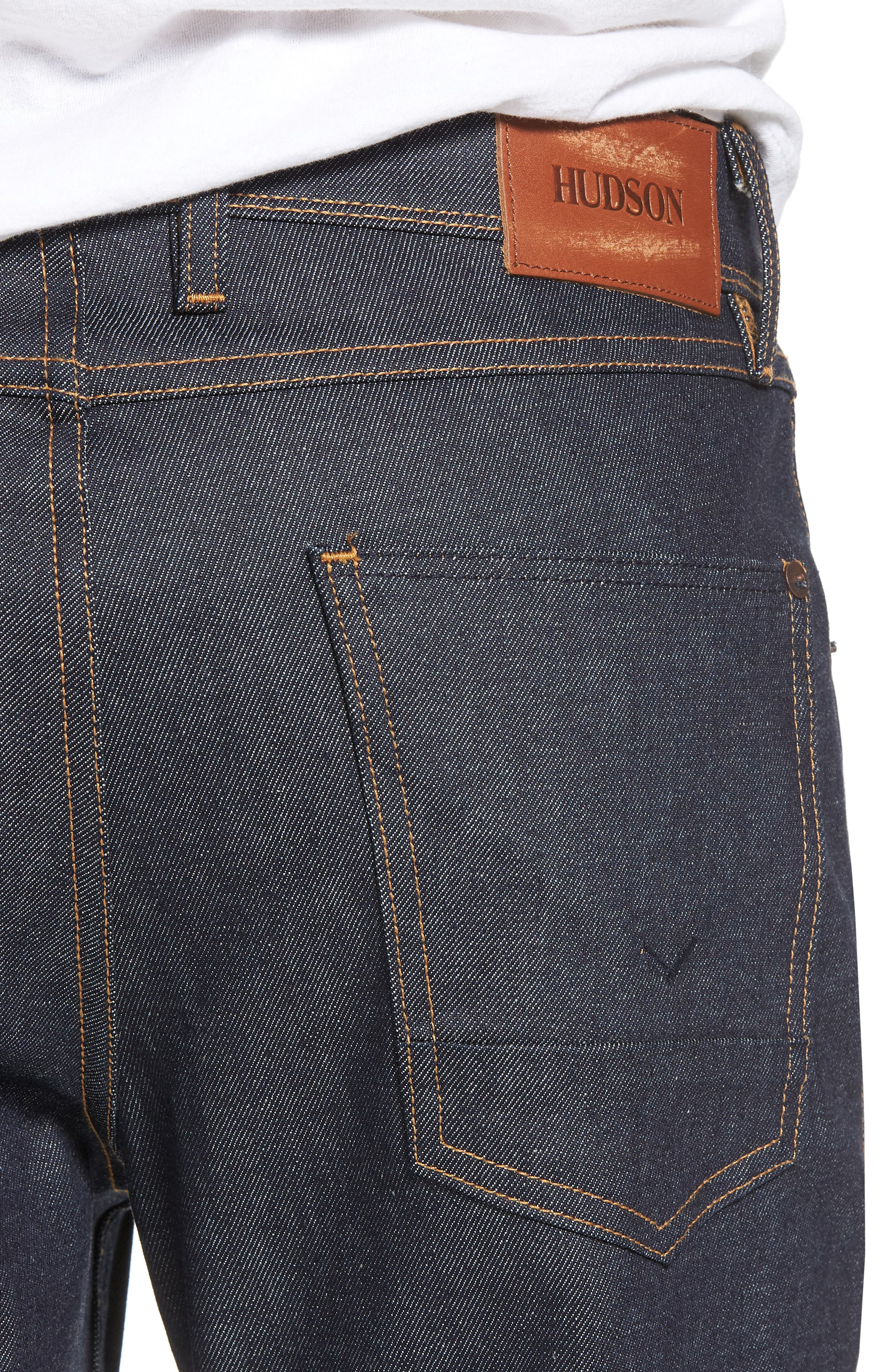 Alternate Image 4  - Hudson Jeans Sartor Skinny Fit Jeans (Raw)