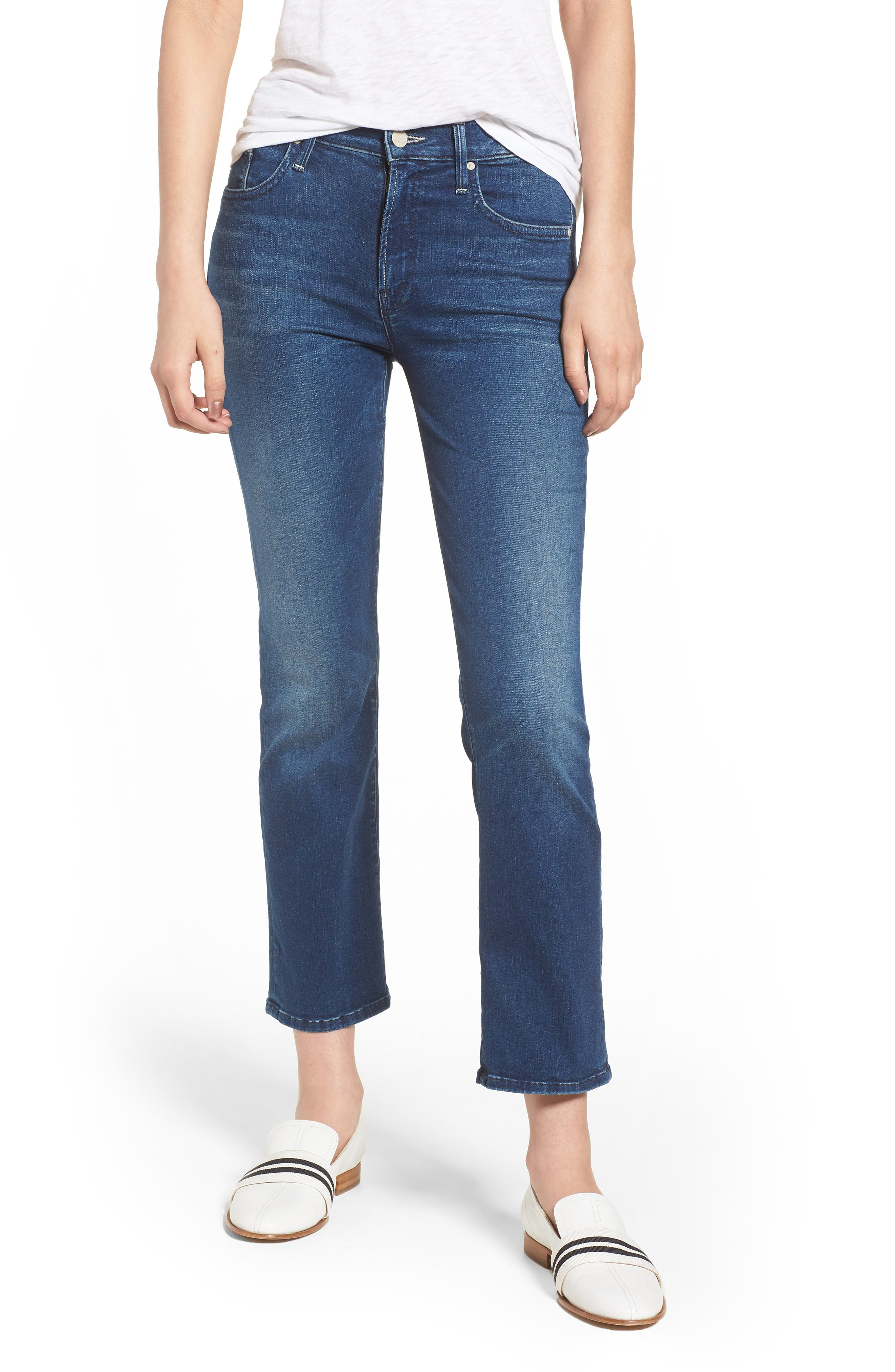 The Outsider Crop Bootcut Jeans,                             Main thumbnail 1, color,                             Fast Times