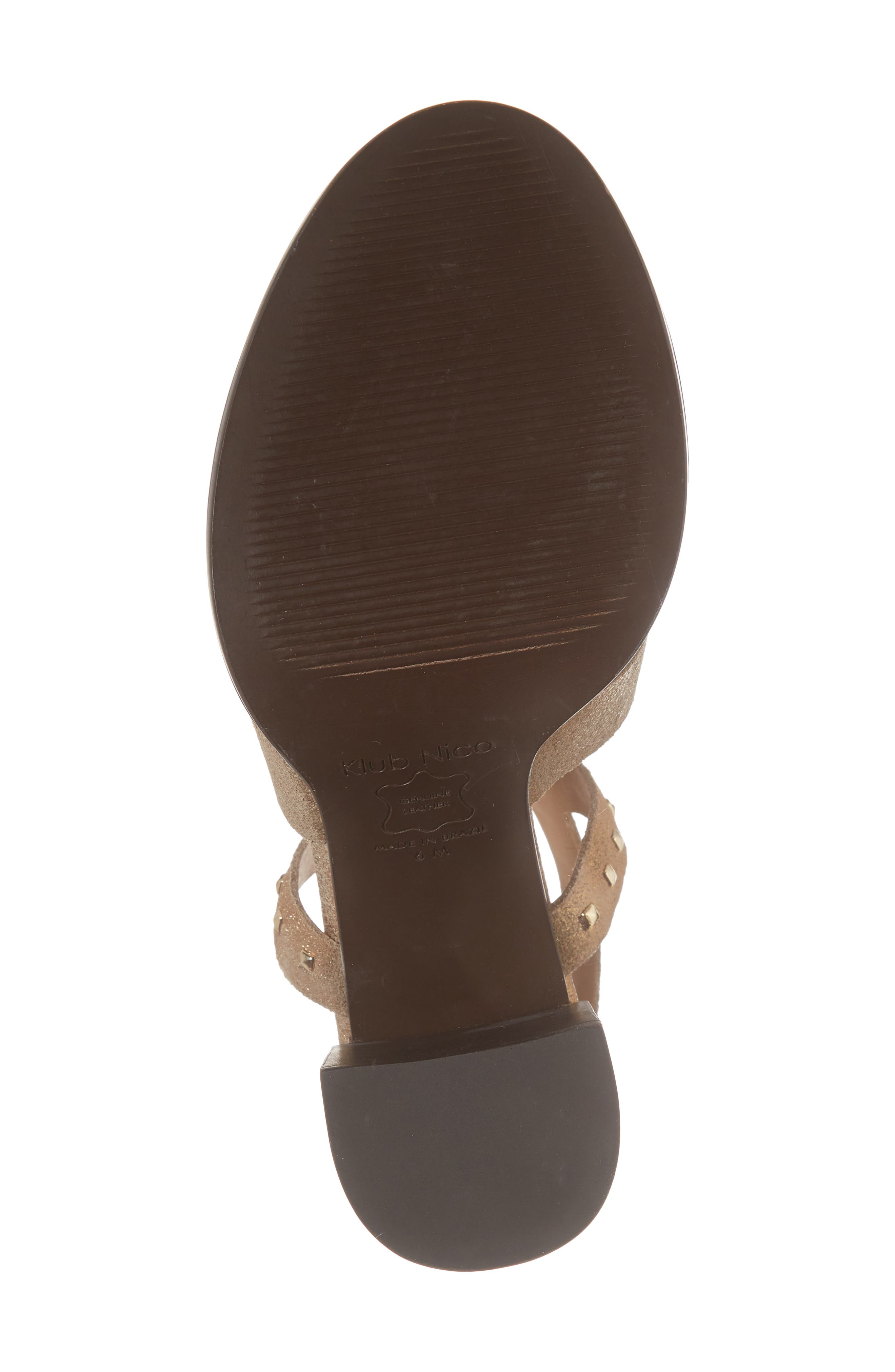 Tabia Sandal,                             Alternate thumbnail 6, color,                             Bronze Suede
