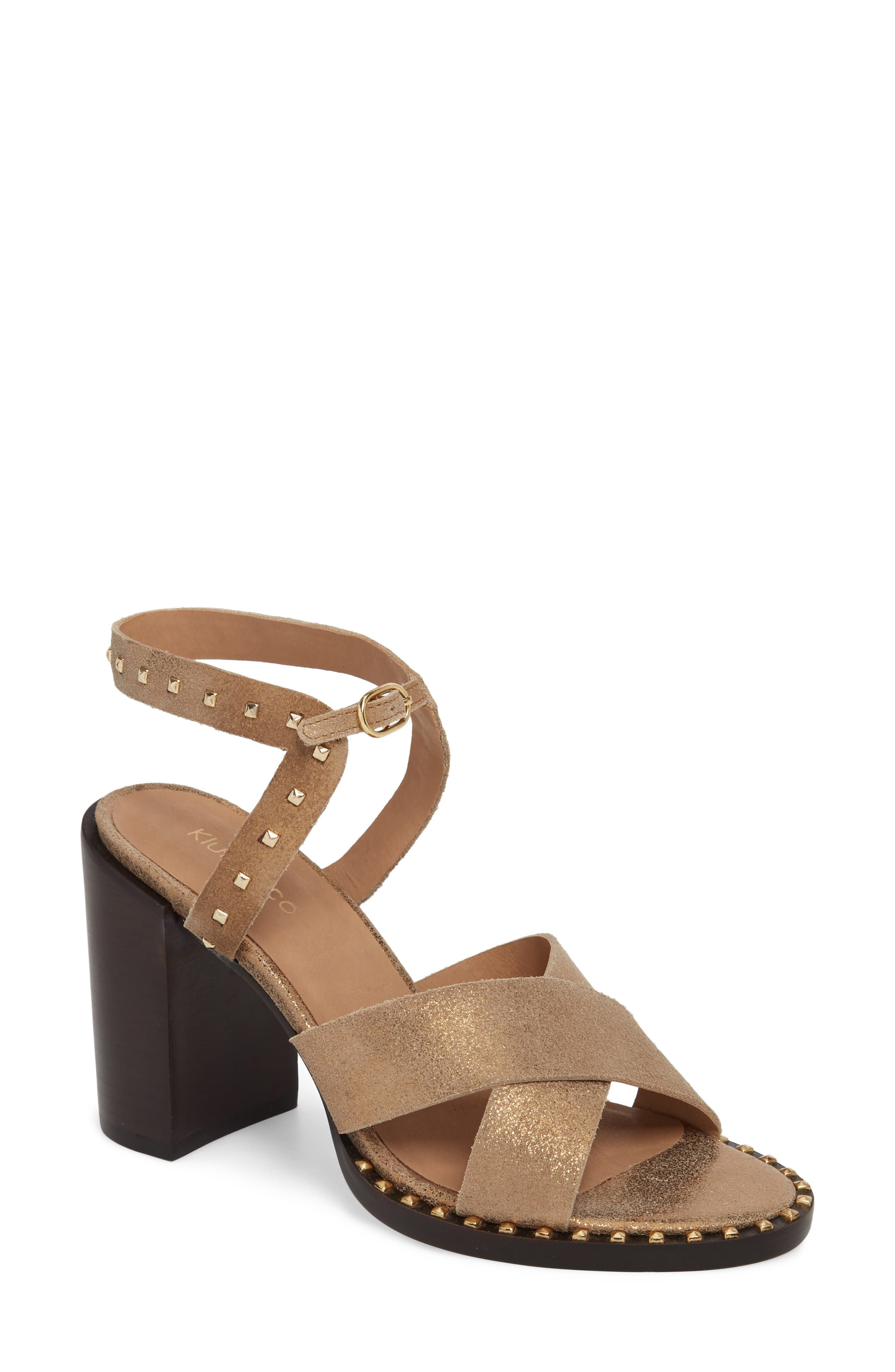 Tabia Sandal,                         Main,                         color, Bronze Suede