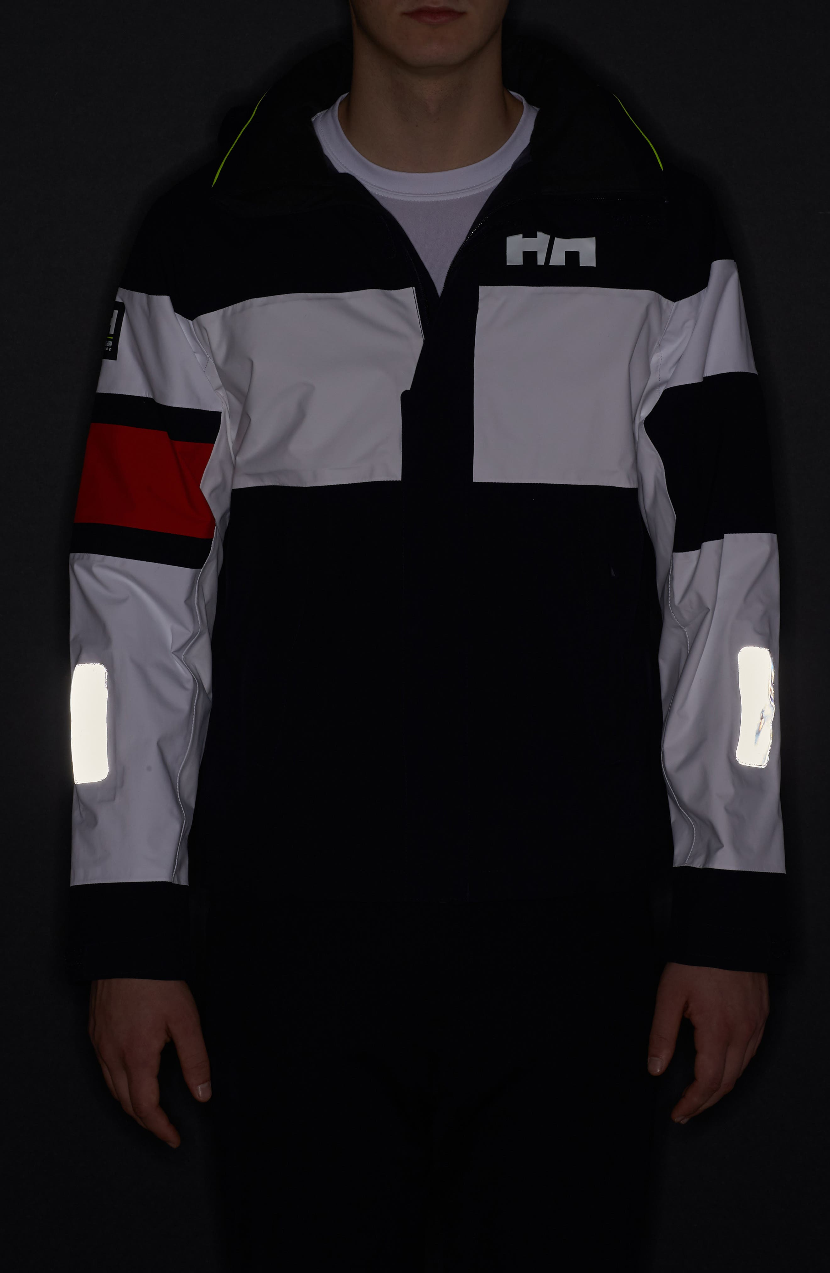 Salt Light Hooded Jacket,                             Alternate thumbnail 7, color,                             Navy