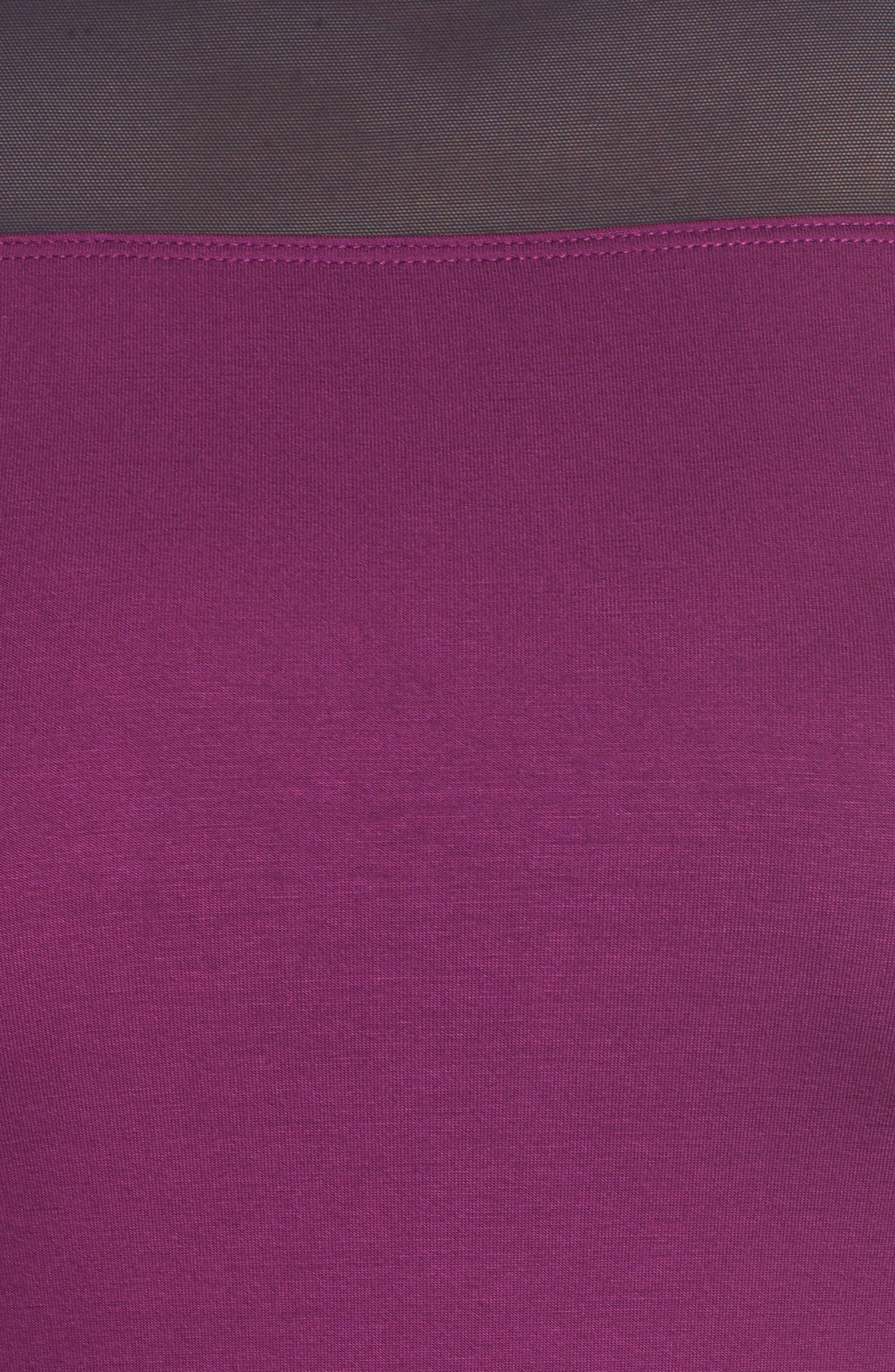 Short Sleeve Tee,                             Alternate thumbnail 5, color,                             Plum/ Navy