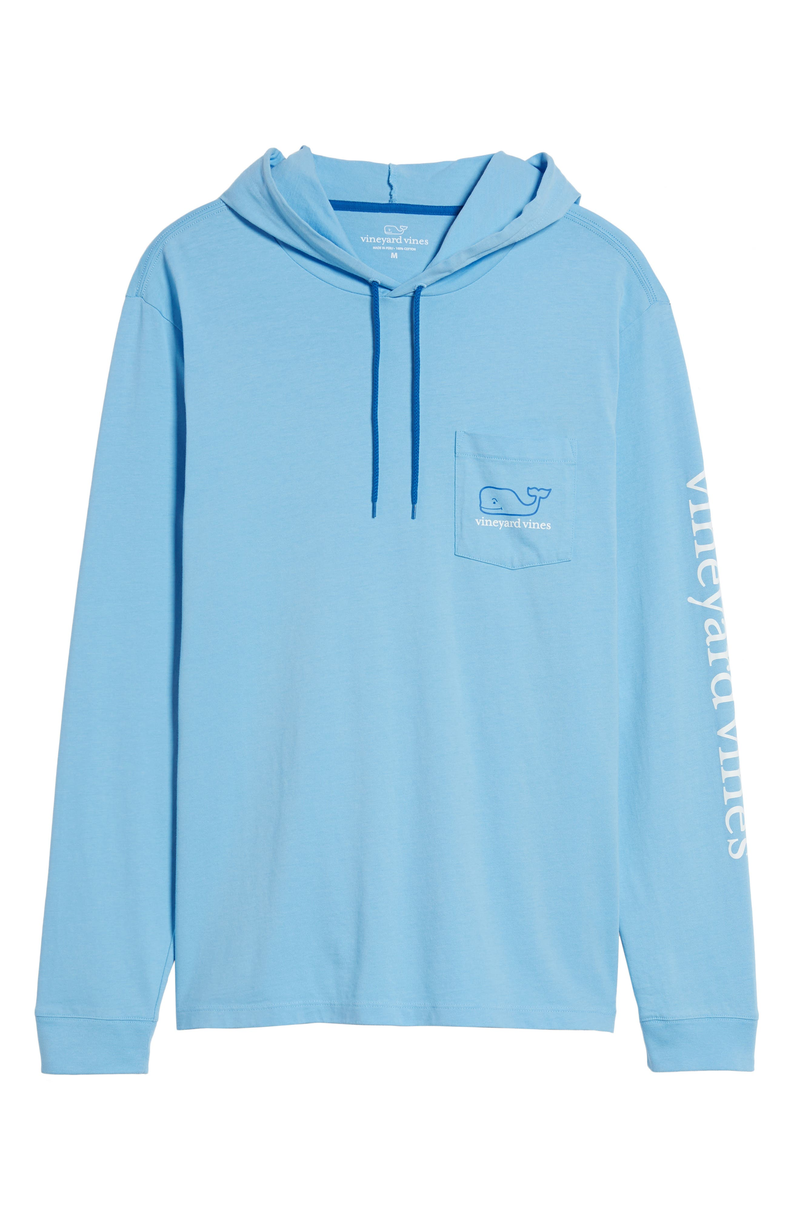 Whale Graphic Hooded T-Shirt,                             Main thumbnail 1, color,                             Ocean Breeze