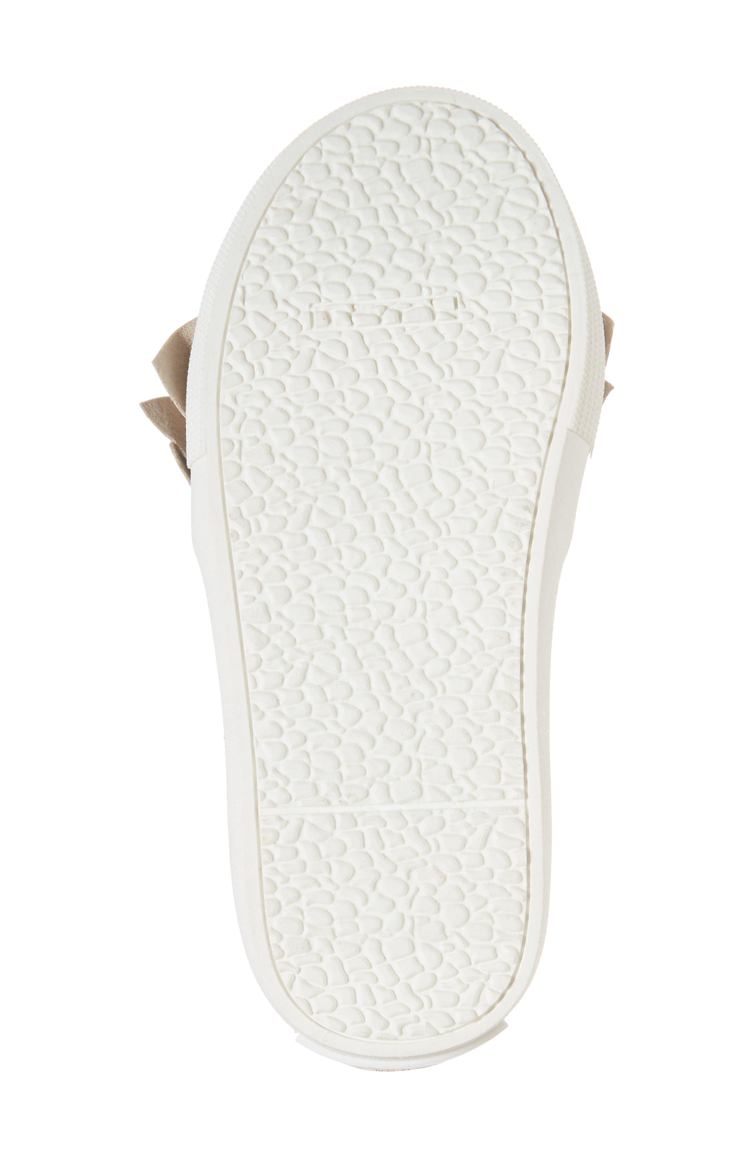 Shimmery Kam Ruffle Slip-On Sneaker,                             Alternate thumbnail 6, color,                             Gold