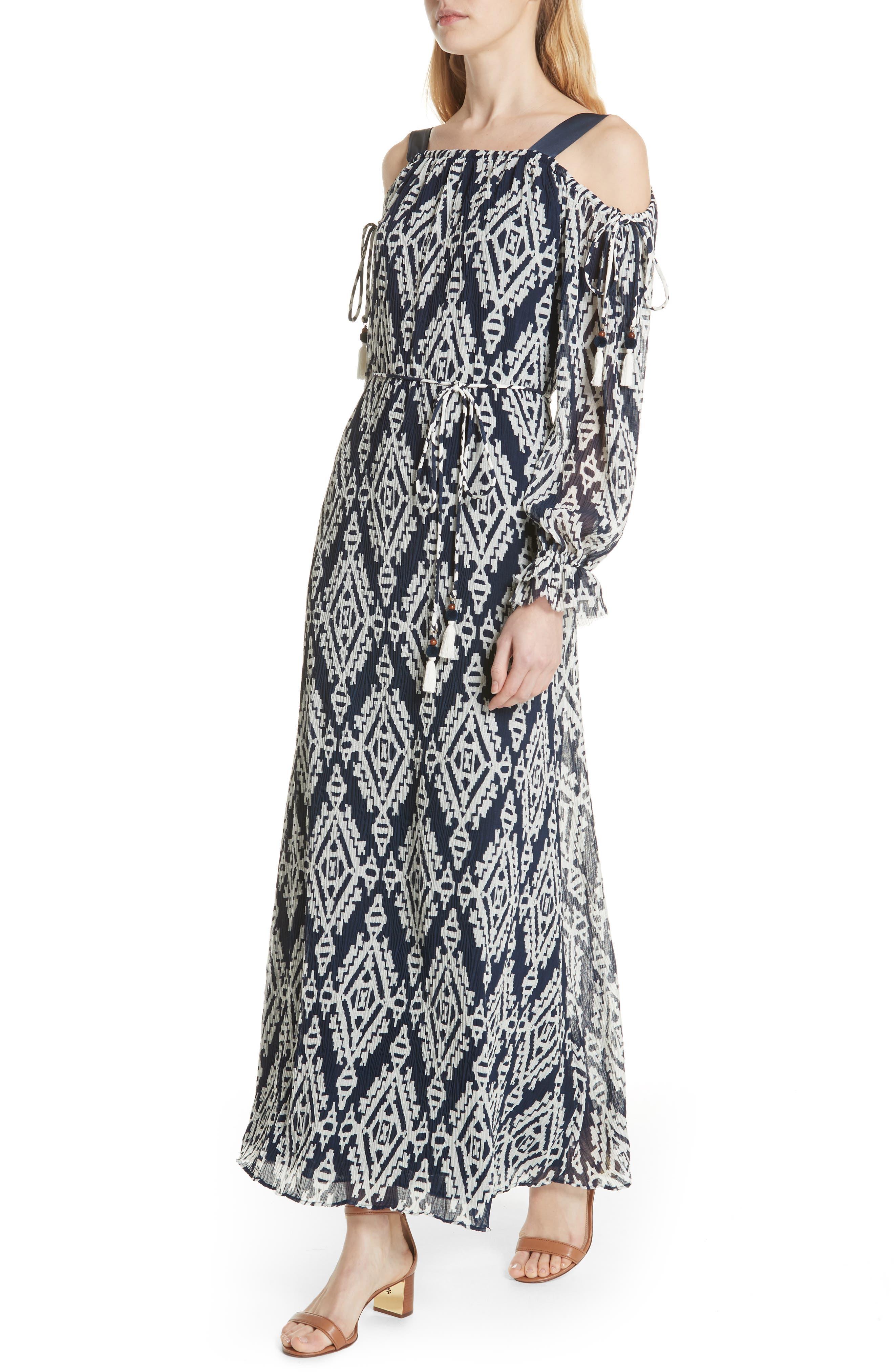 Katherine Maxi Dress,                             Alternate thumbnail 4, color,                             Tapestry Geo
