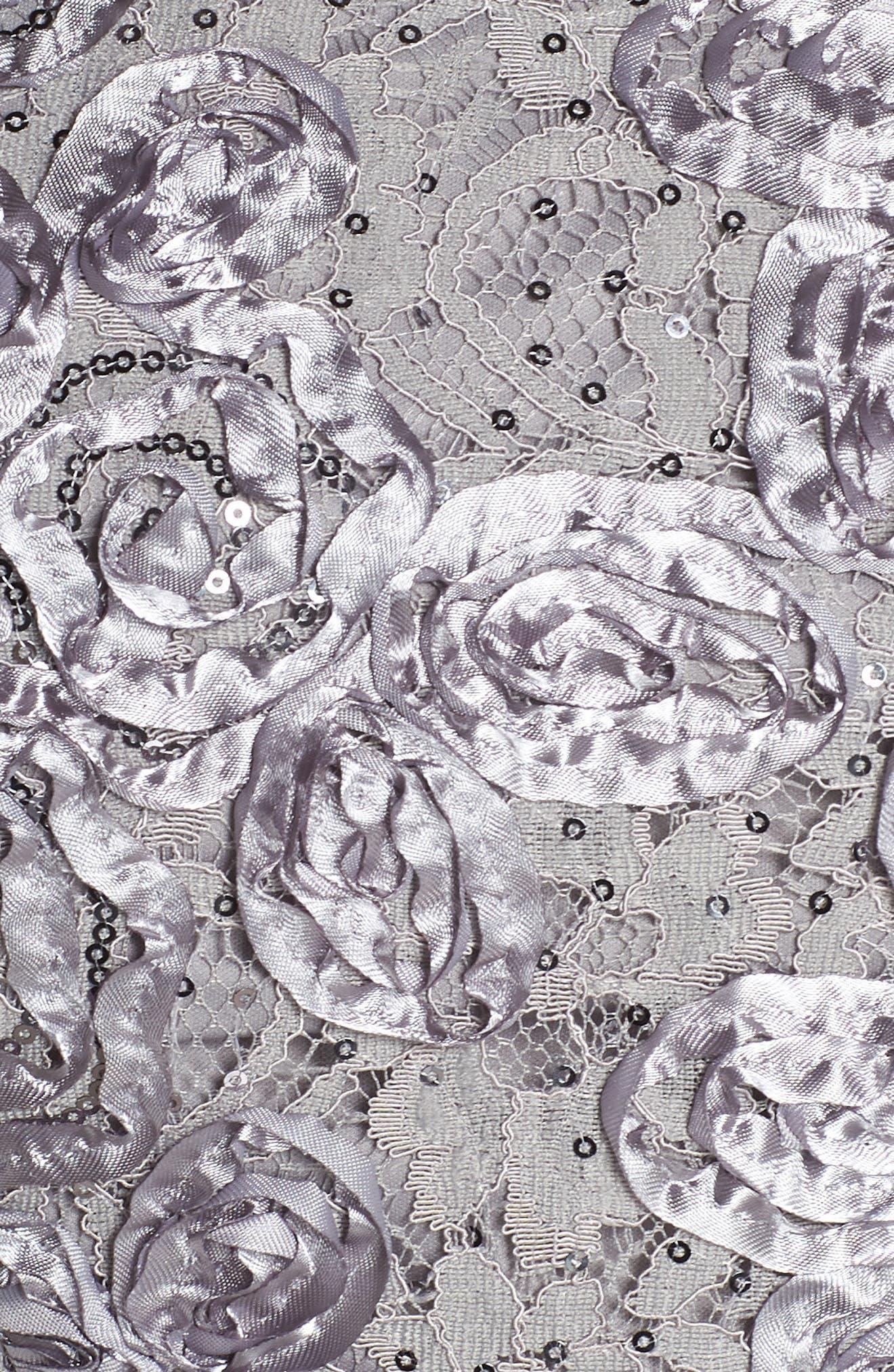 Rosette Lace Blouse,                             Alternate thumbnail 5, color,                             Dove