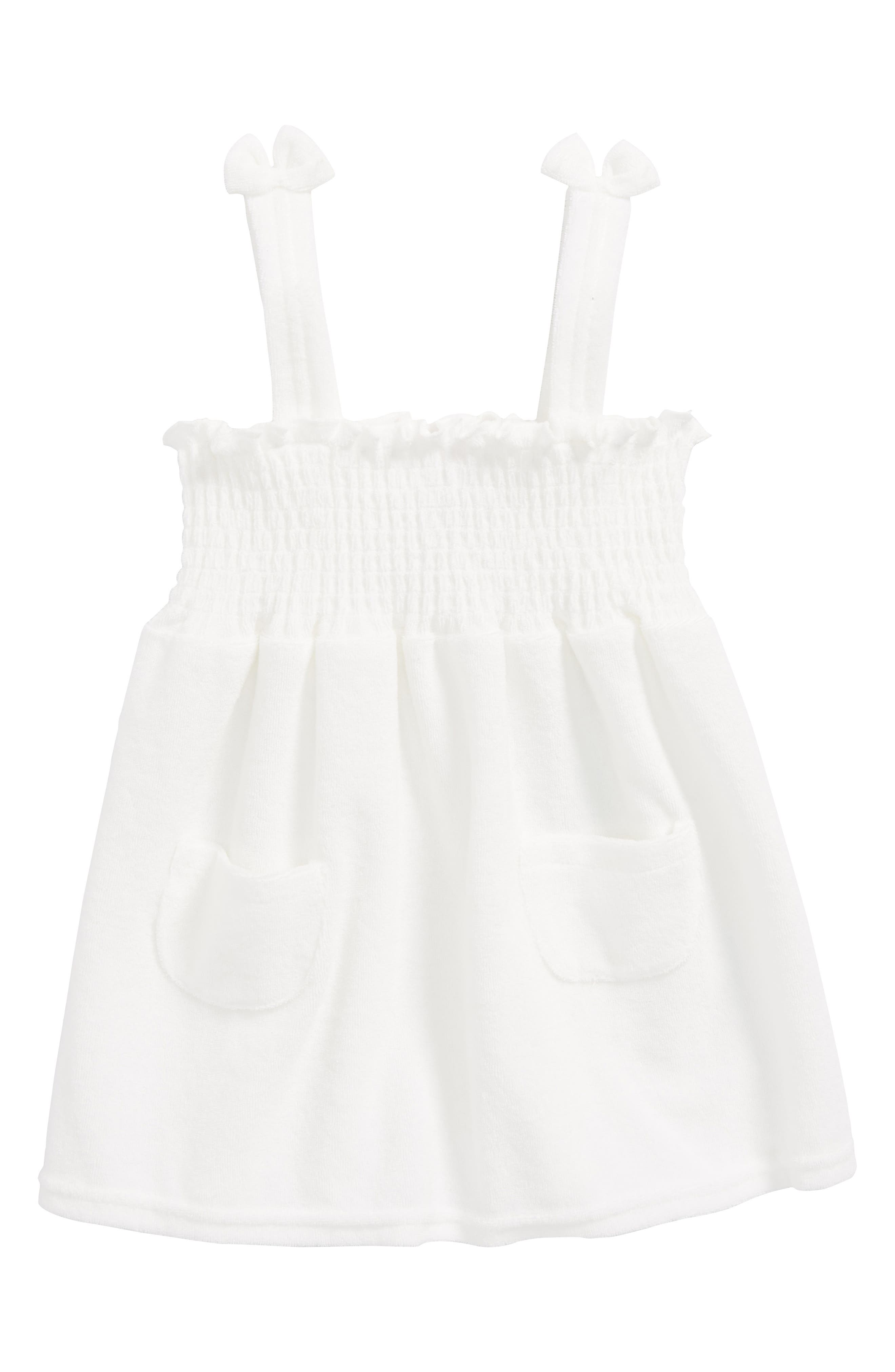 French Terry Cover-Up,                         Main,                         color, White