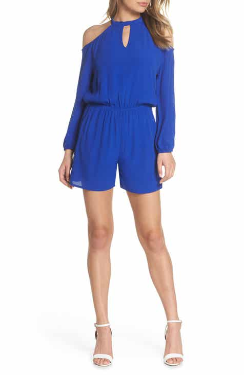 Fraiche by J Keyhole Cold Shoulder Romper by FRAICHE BY J