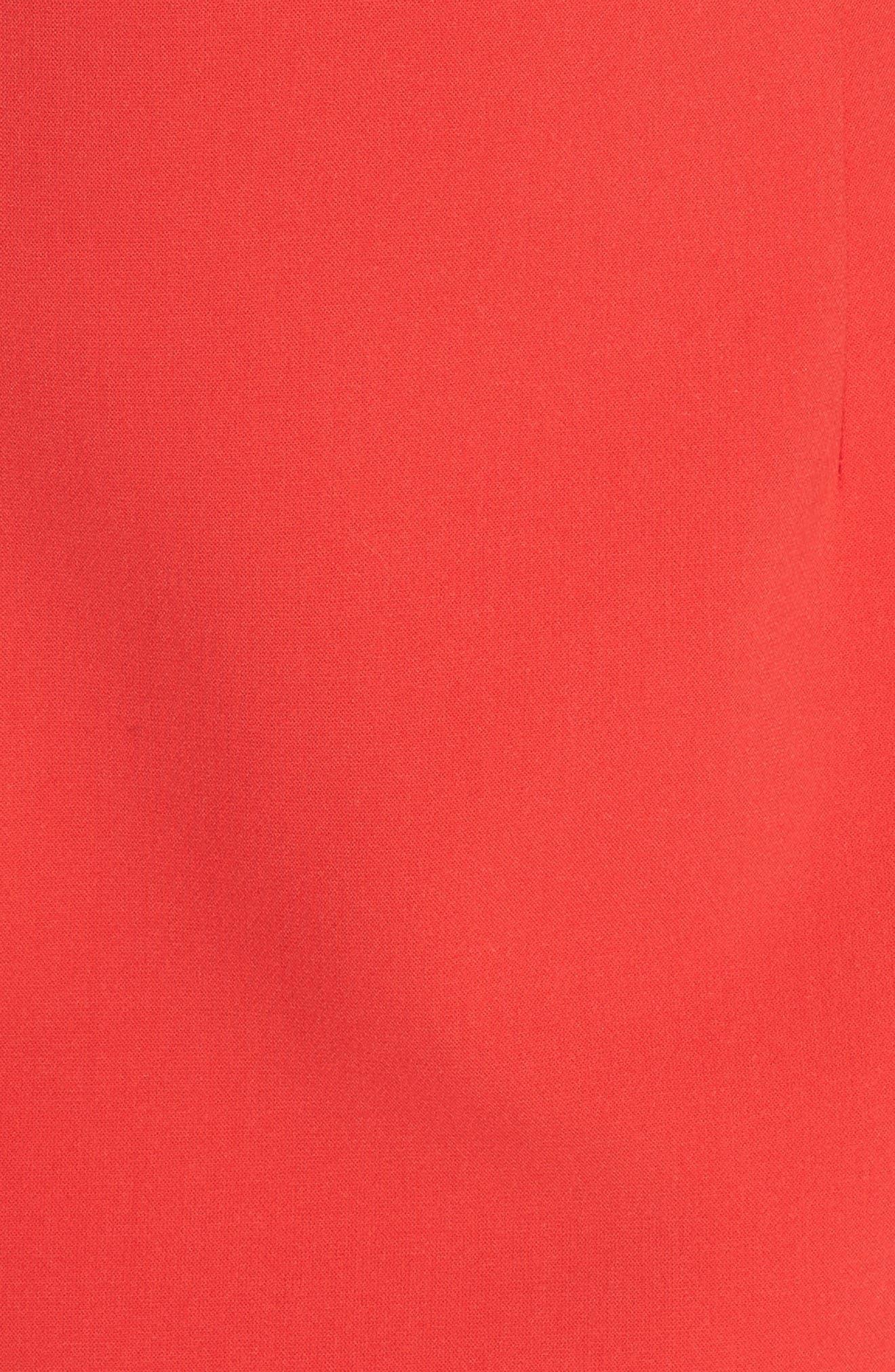 Whisper Light Sheath Dress,                             Alternate thumbnail 6, color,                             Shanghai Red
