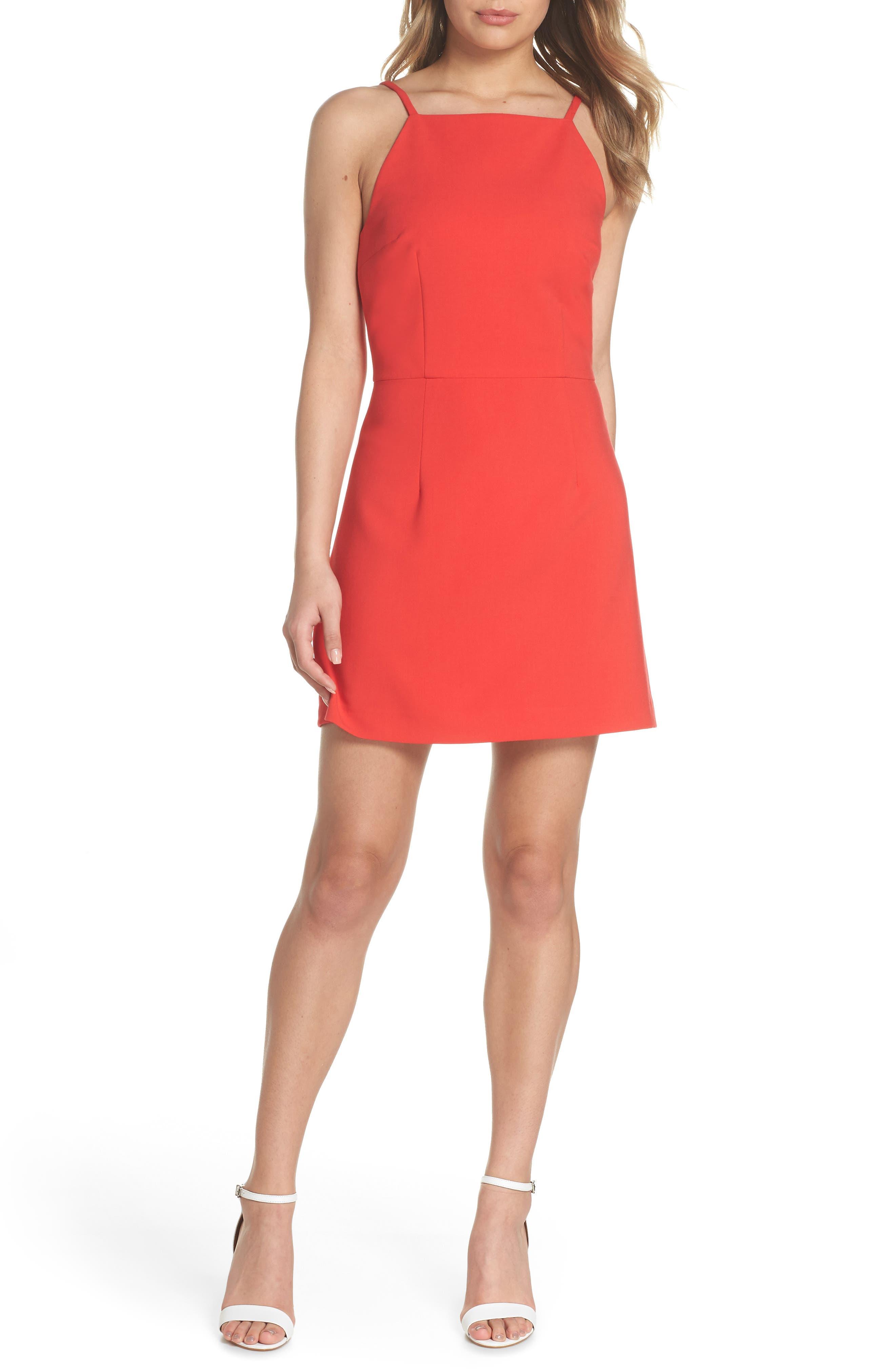Whisper Light Sheath Dress,                         Main,                         color, Shanghai Red