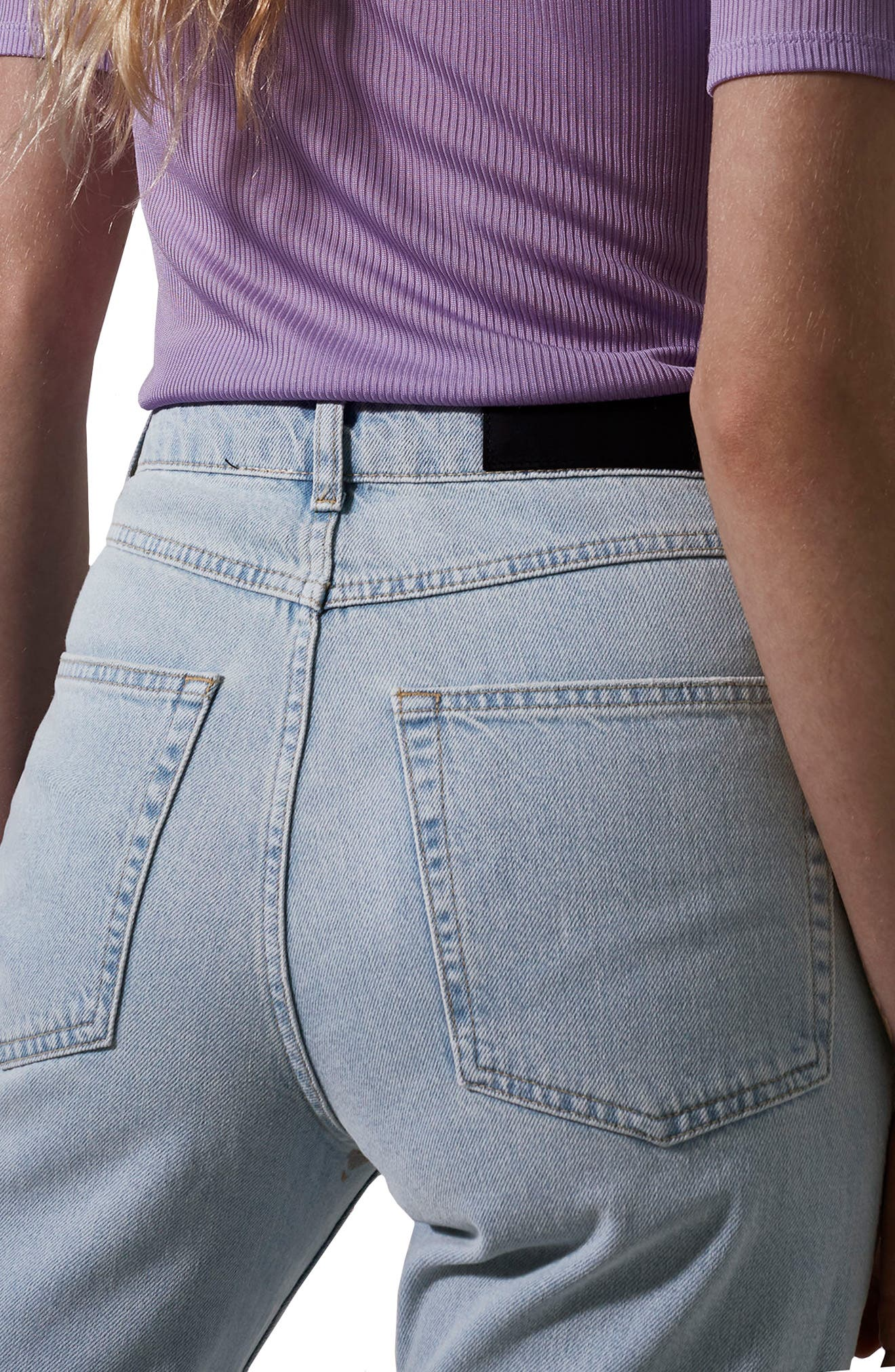 Boutique Bleach Denim Jeans,                             Alternate thumbnail 2, color,                             Light Denim