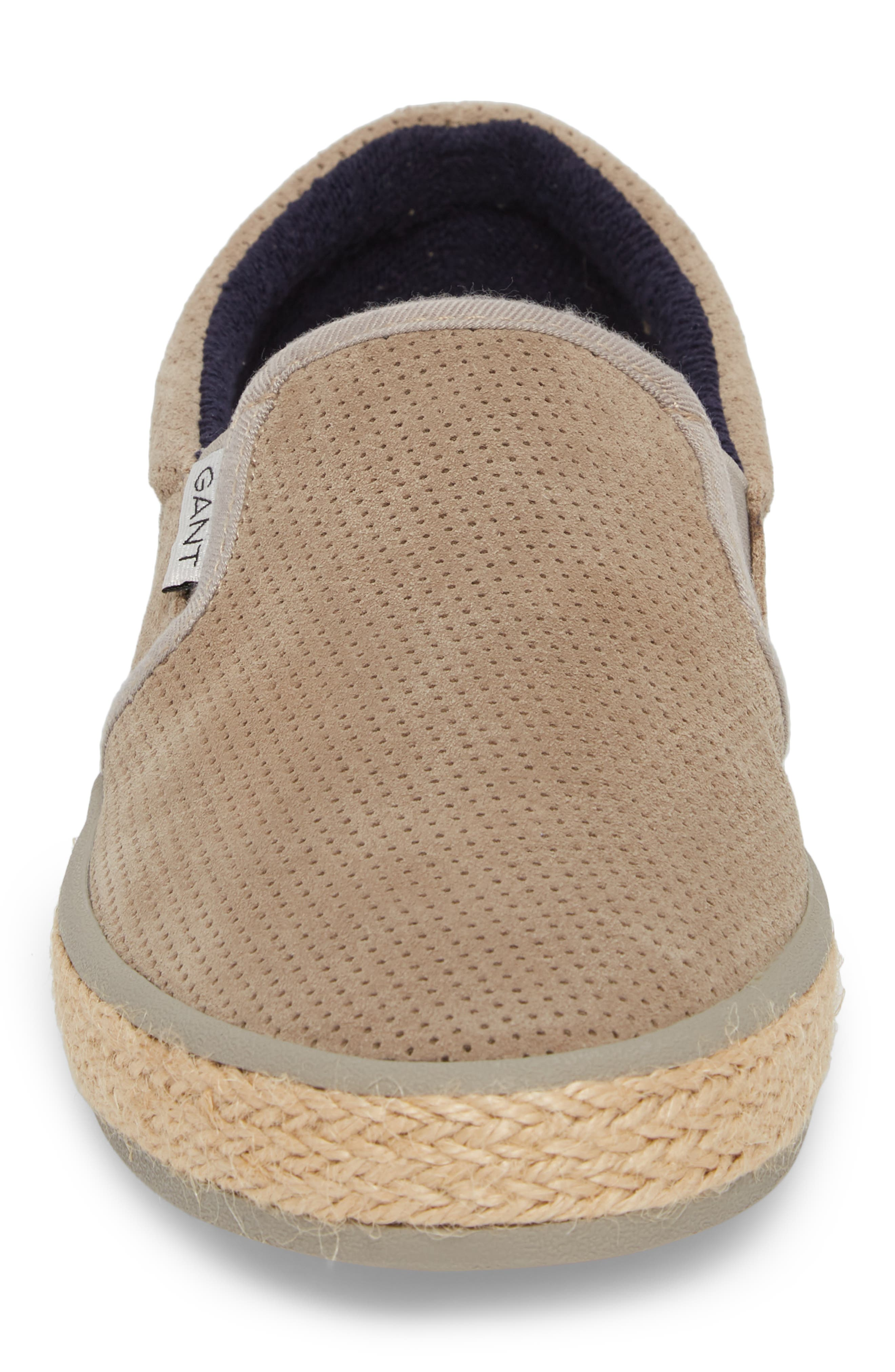 Master Perforated Slip-On Sneaker,                             Alternate thumbnail 4, color,                             Cashew Brown