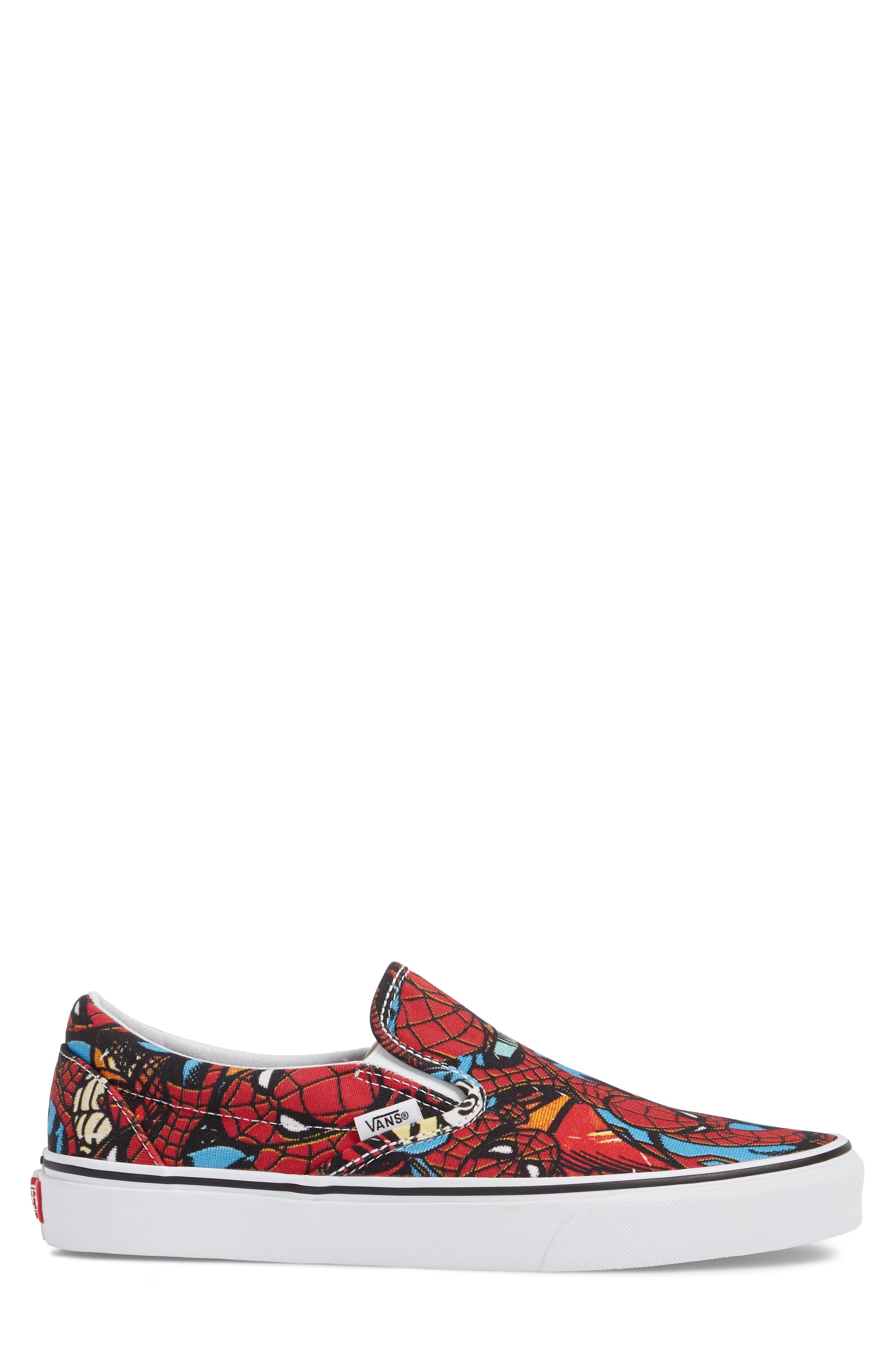 Marvel UA Classic Slip-On Sneaker,                             Alternate thumbnail 3, color,                             Black/ Red Textile