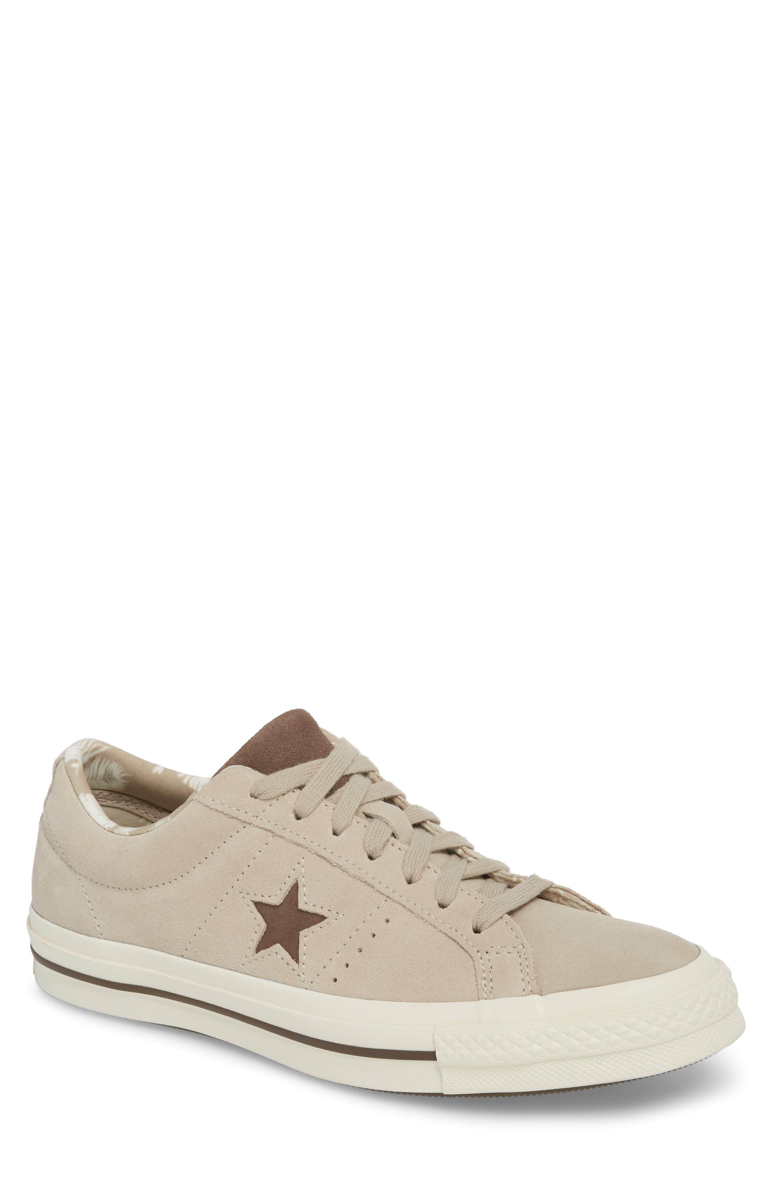 One-Star Tropical Sneaker,                             Main thumbnail 1, color,                             Khaki Suede
