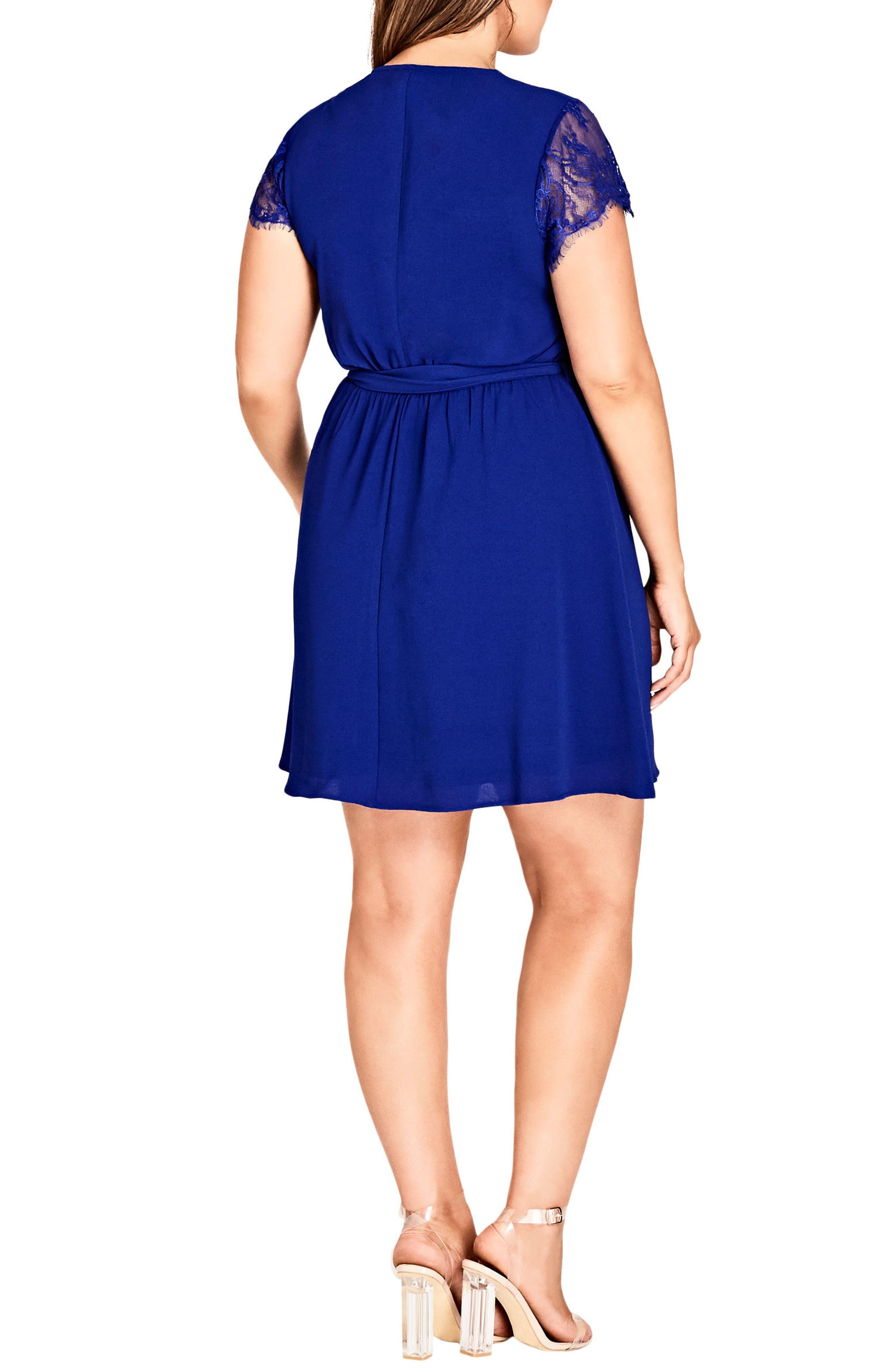Sweet Zip Front Tunic Dress,                             Alternate thumbnail 2, color,                             Lapis