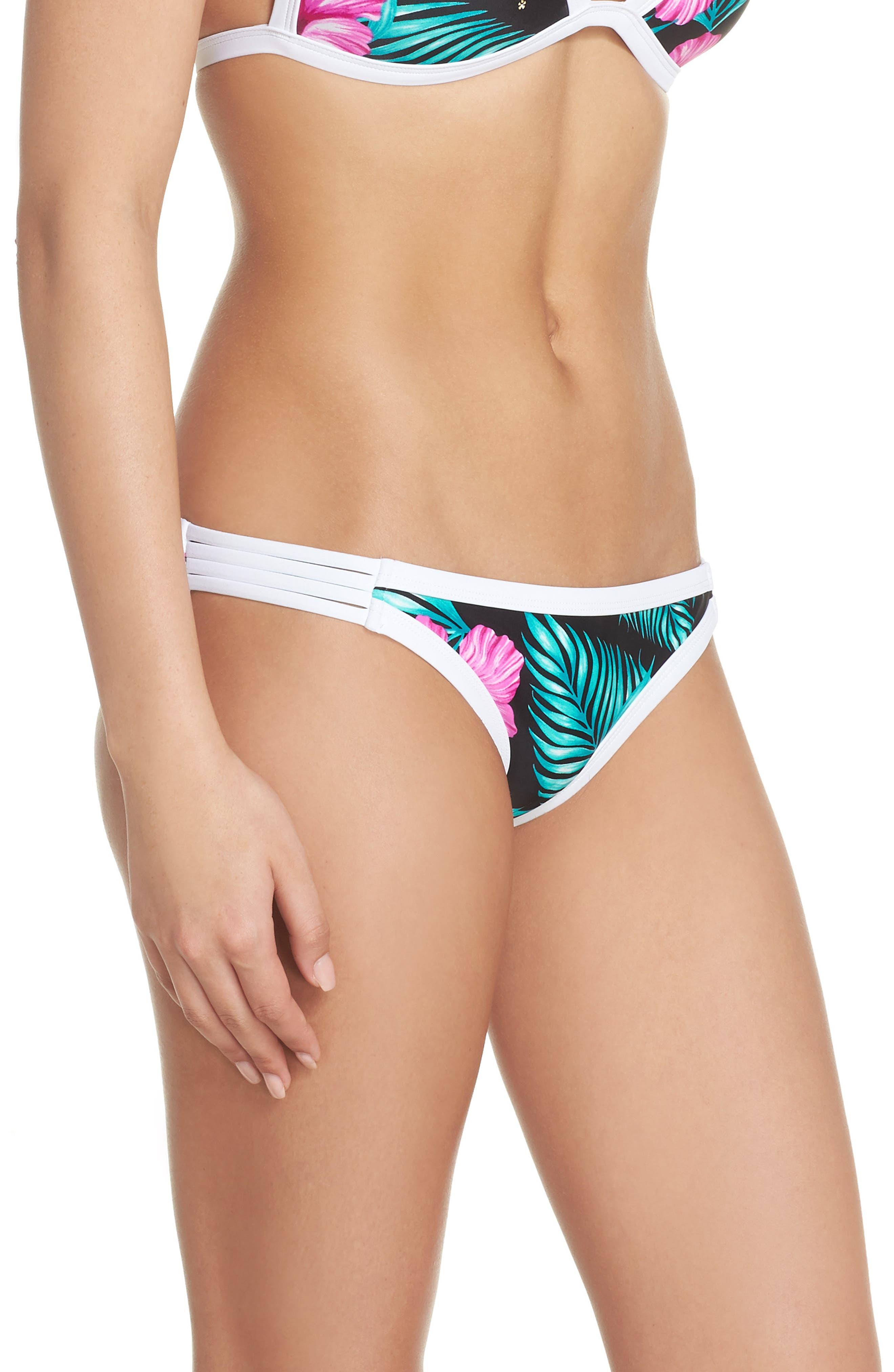 Molokai Hipster Bikini Bottoms,                             Alternate thumbnail 3, color,                             Black