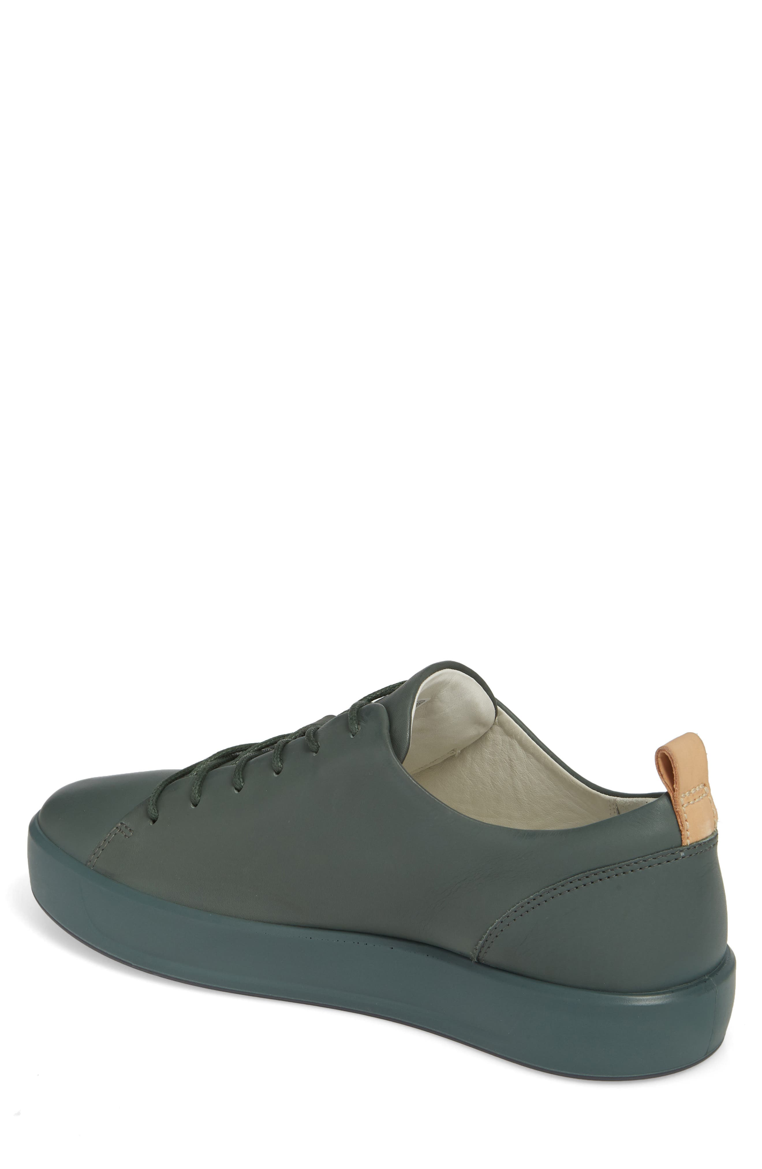 Soft 8 Low Top Sneaker,                             Alternate thumbnail 2, color,                             Military Sage Leather
