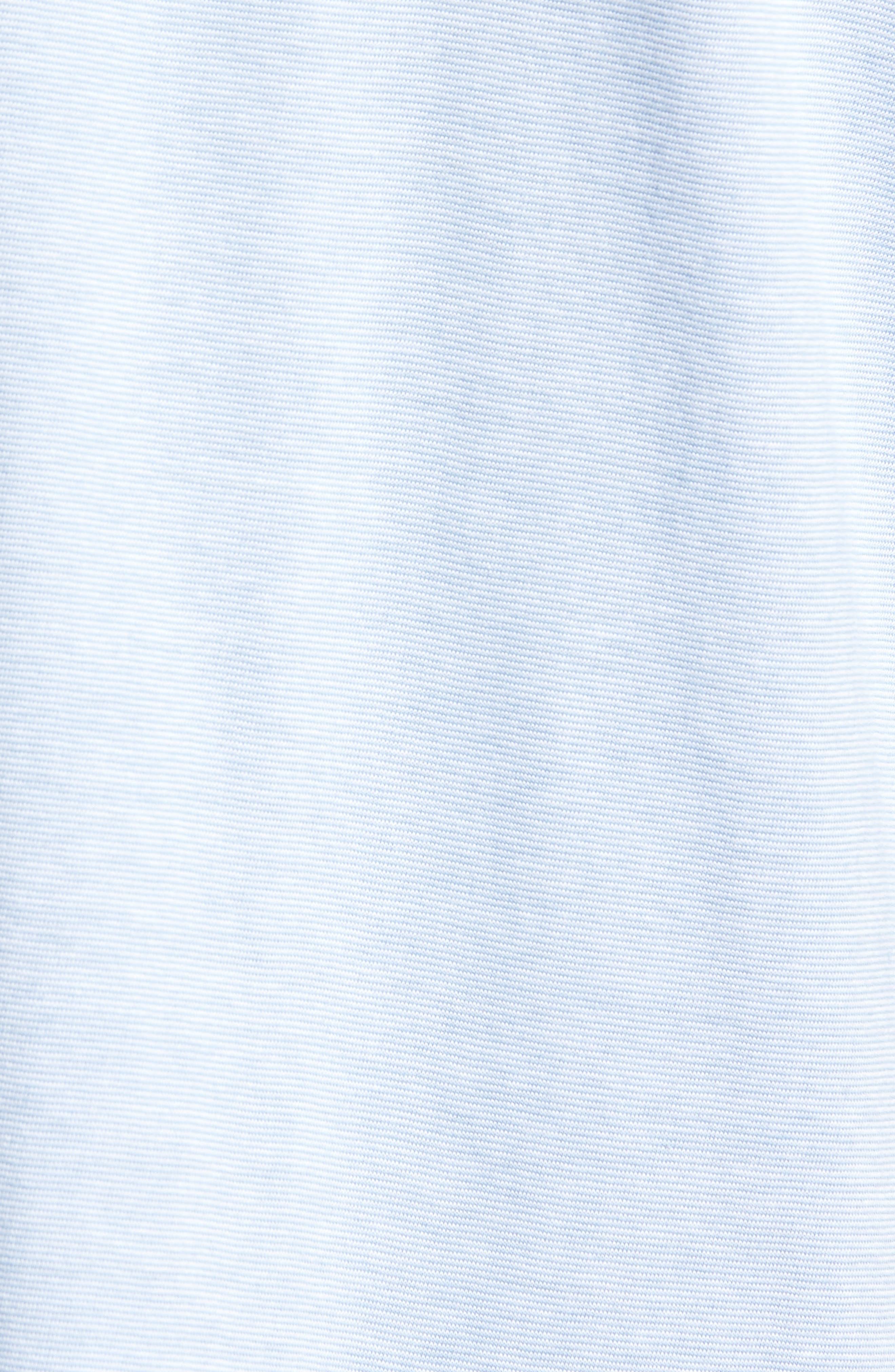 Bloc Apple Print Polo,                             Alternate thumbnail 5, color,                             Light Blue