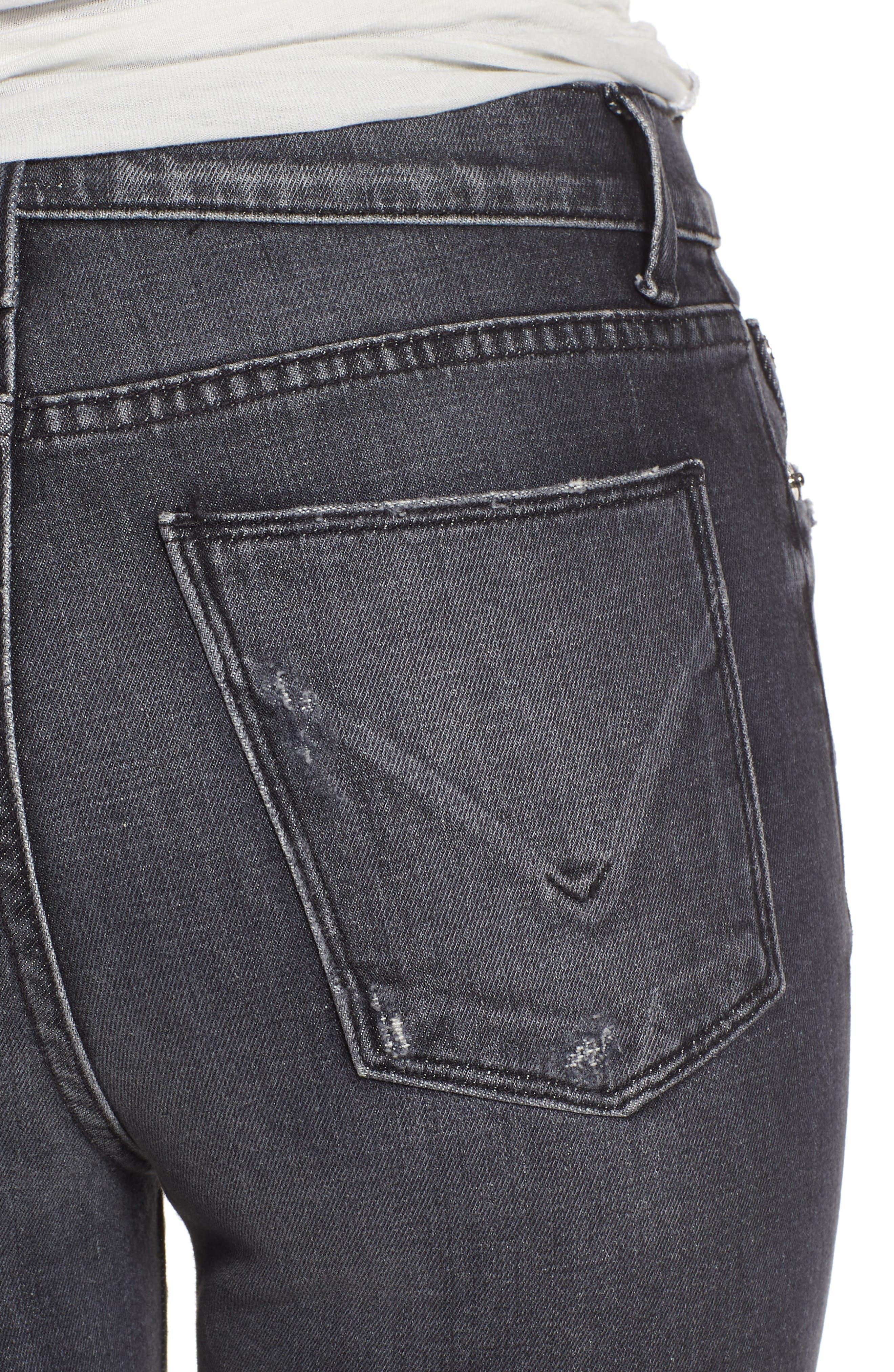 Alternate Image 4  - Hudson Jeans Zoeey High Waist Cutoff Boyfriend Shorts (Malice)