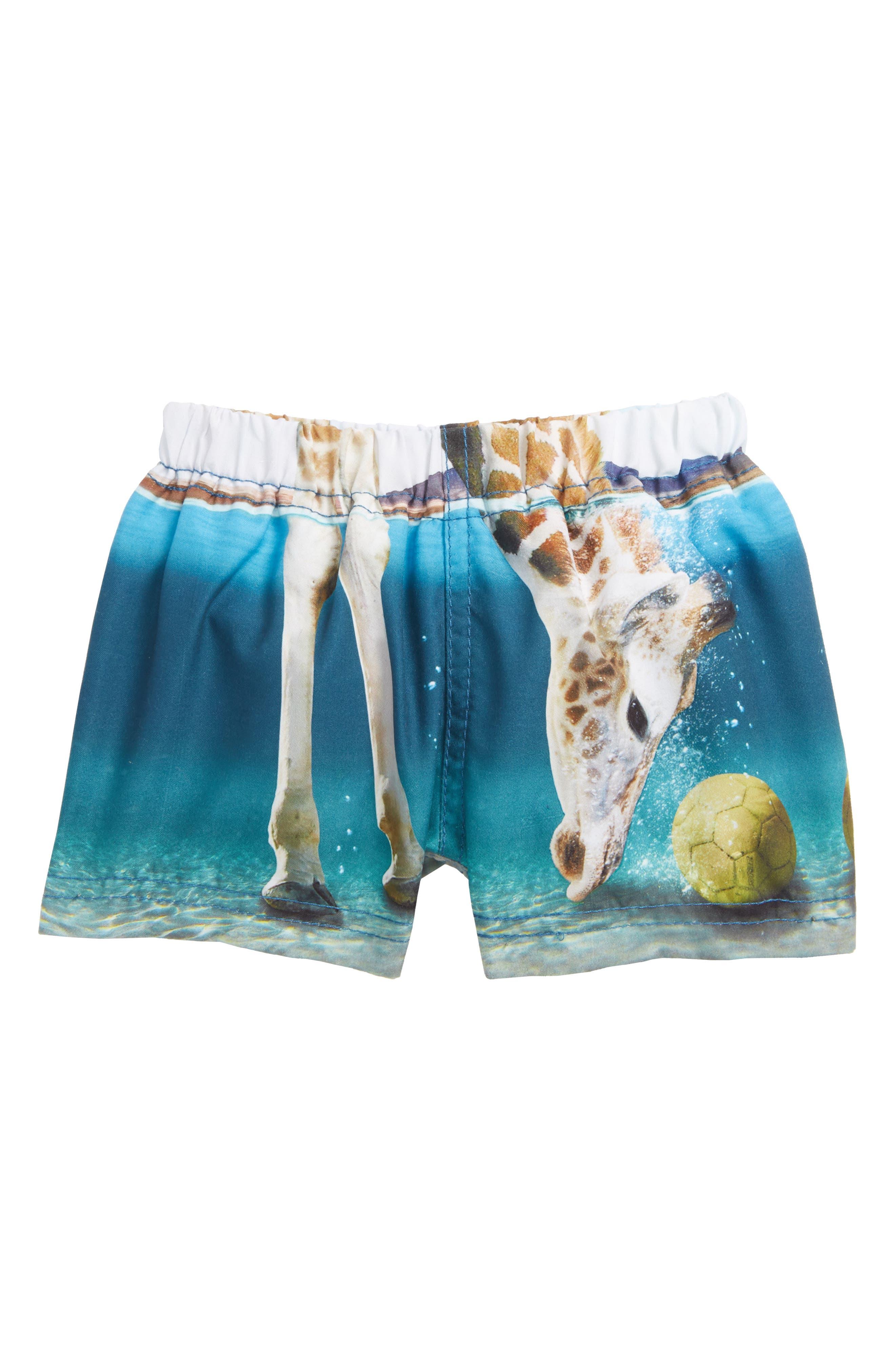 Newton Swim Trunks,                         Main,                         color, Giraffe
