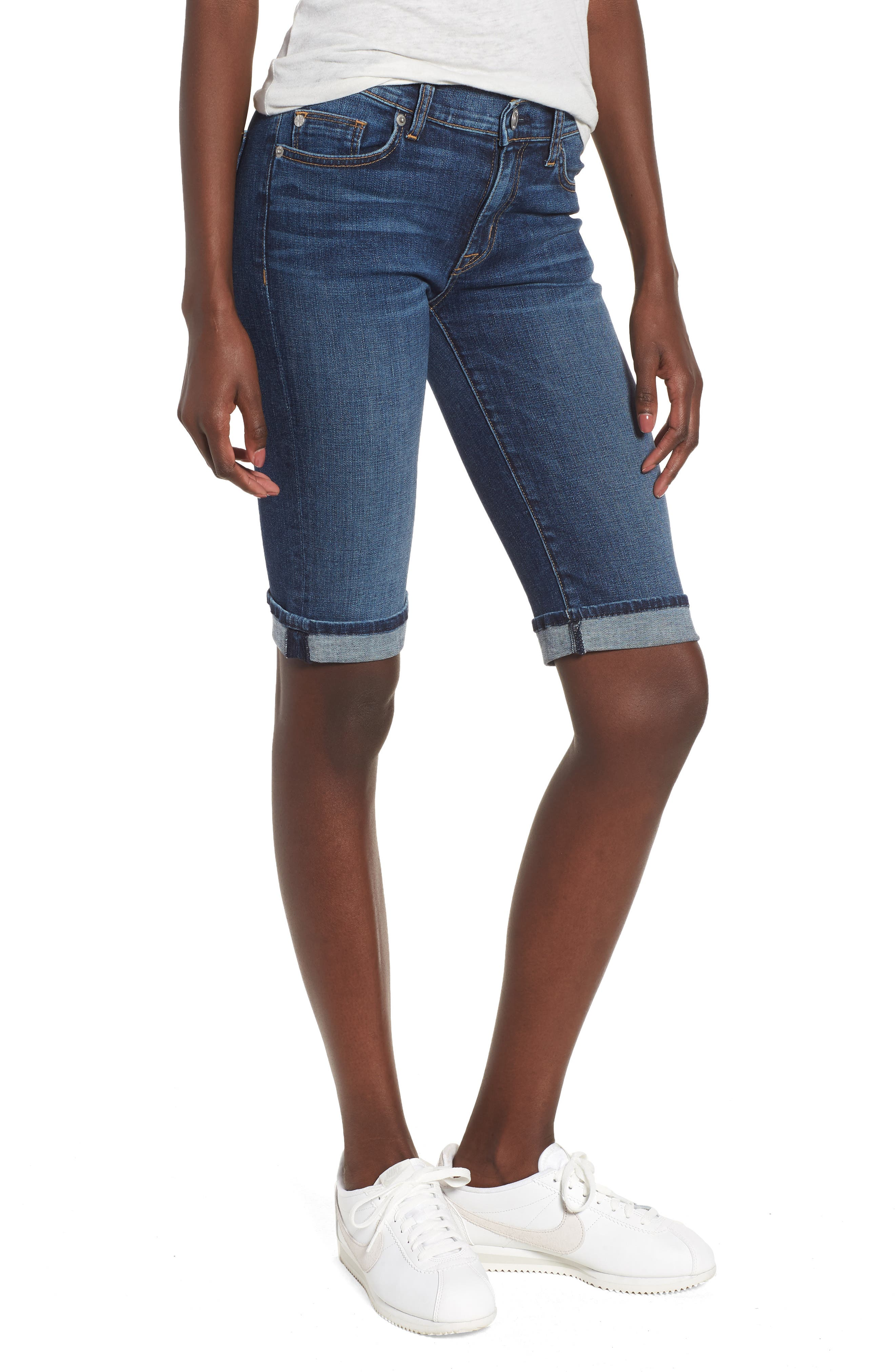 Main Image - Hudson Jeans Amelia Rolled Knee Shorts (Unfamed)