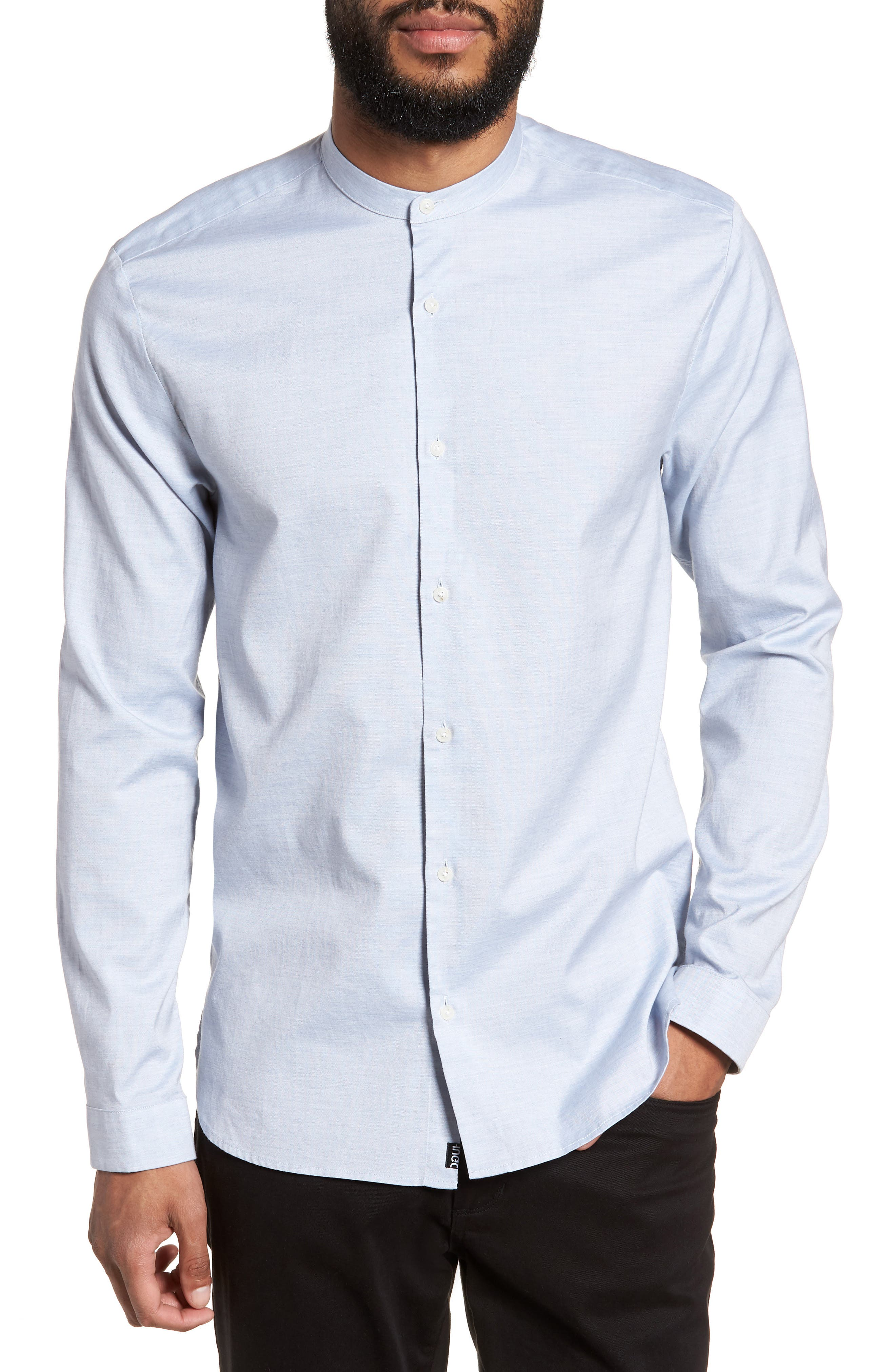 Eddison Relaxed Fit Solid Sport Shirt,                         Main,                         color, Blue