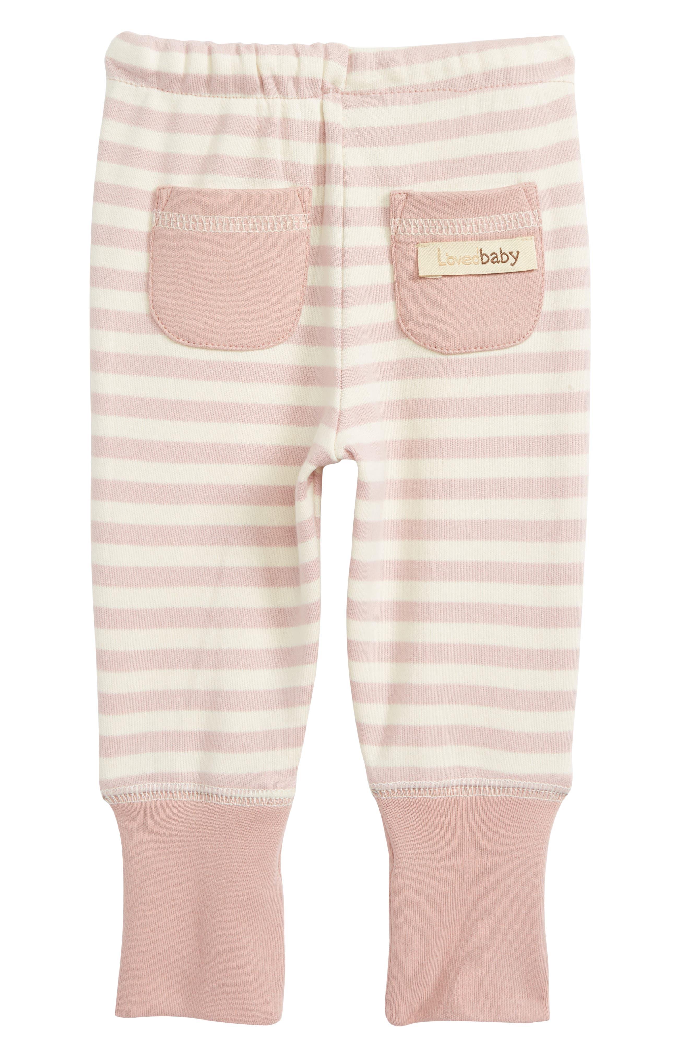 Organic Cotton Jogger Pants,                             Alternate thumbnail 2, color,                             Mauve/ Beige