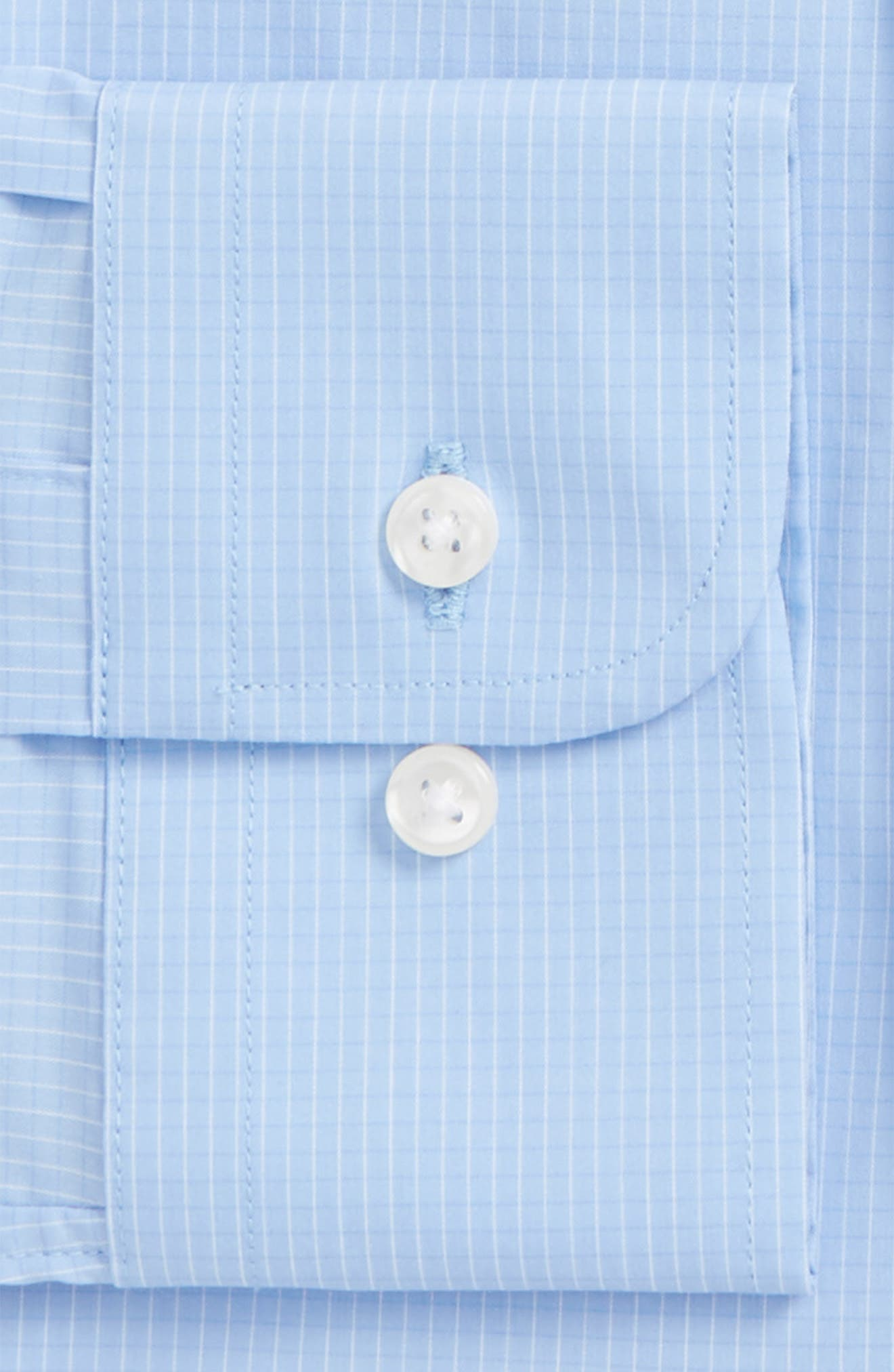 Traditional Fit Stretch Check Dress Shirt,                             Alternate thumbnail 5, color,                             Blue Vista