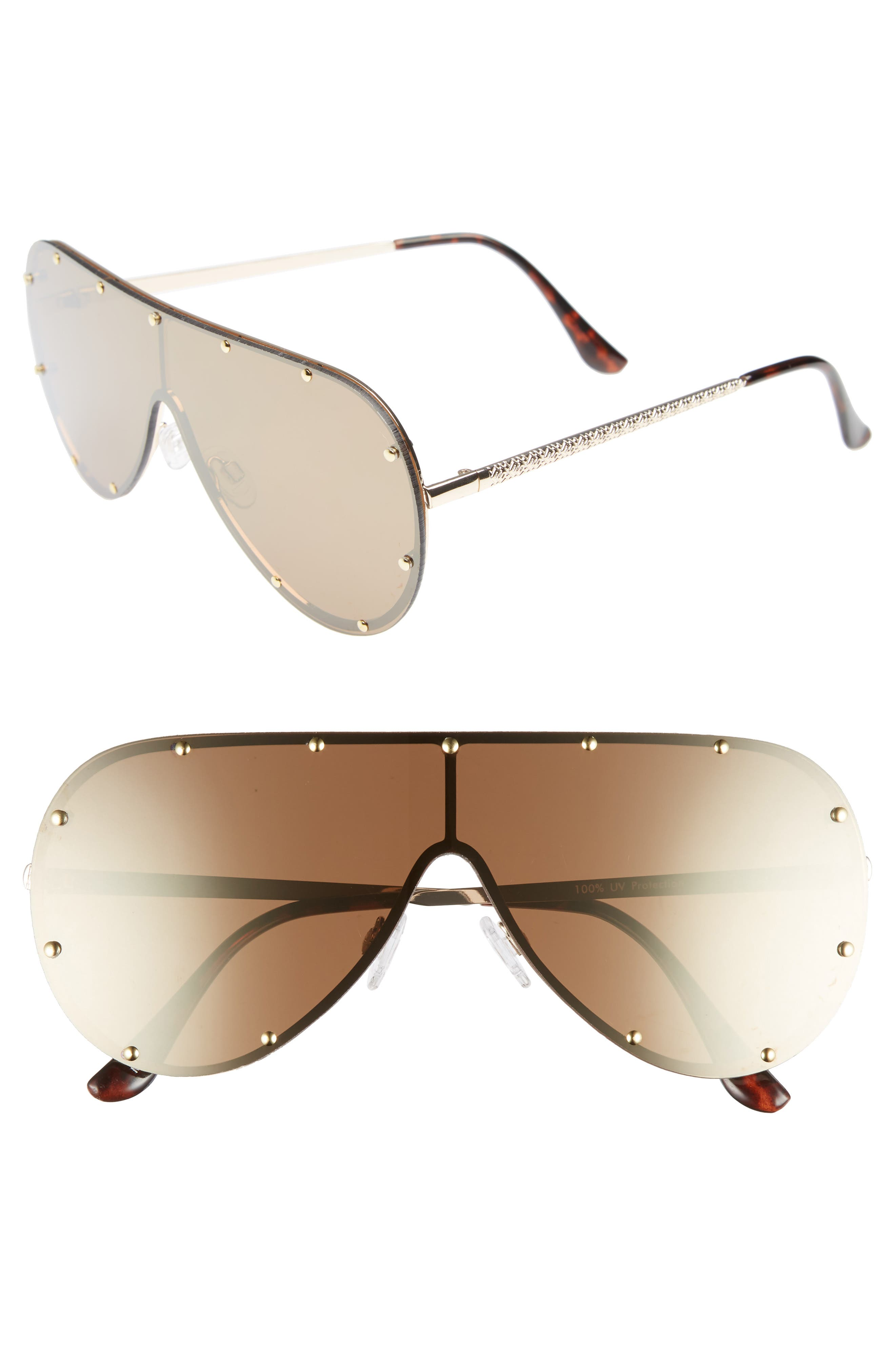 Leith 65mm Studded Shield Sunglasses
