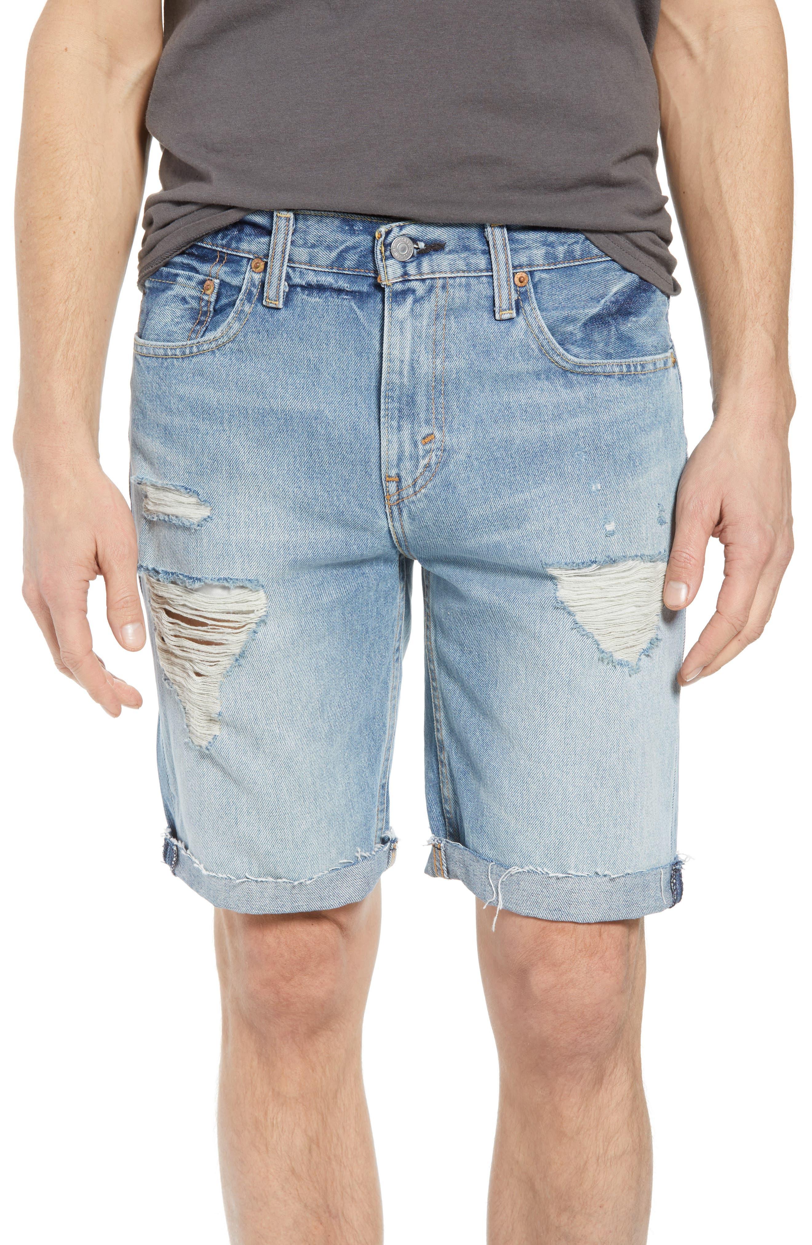 511<sup>™</sup> Cutoff Denim Shorts,                         Main,                         color, Enfield