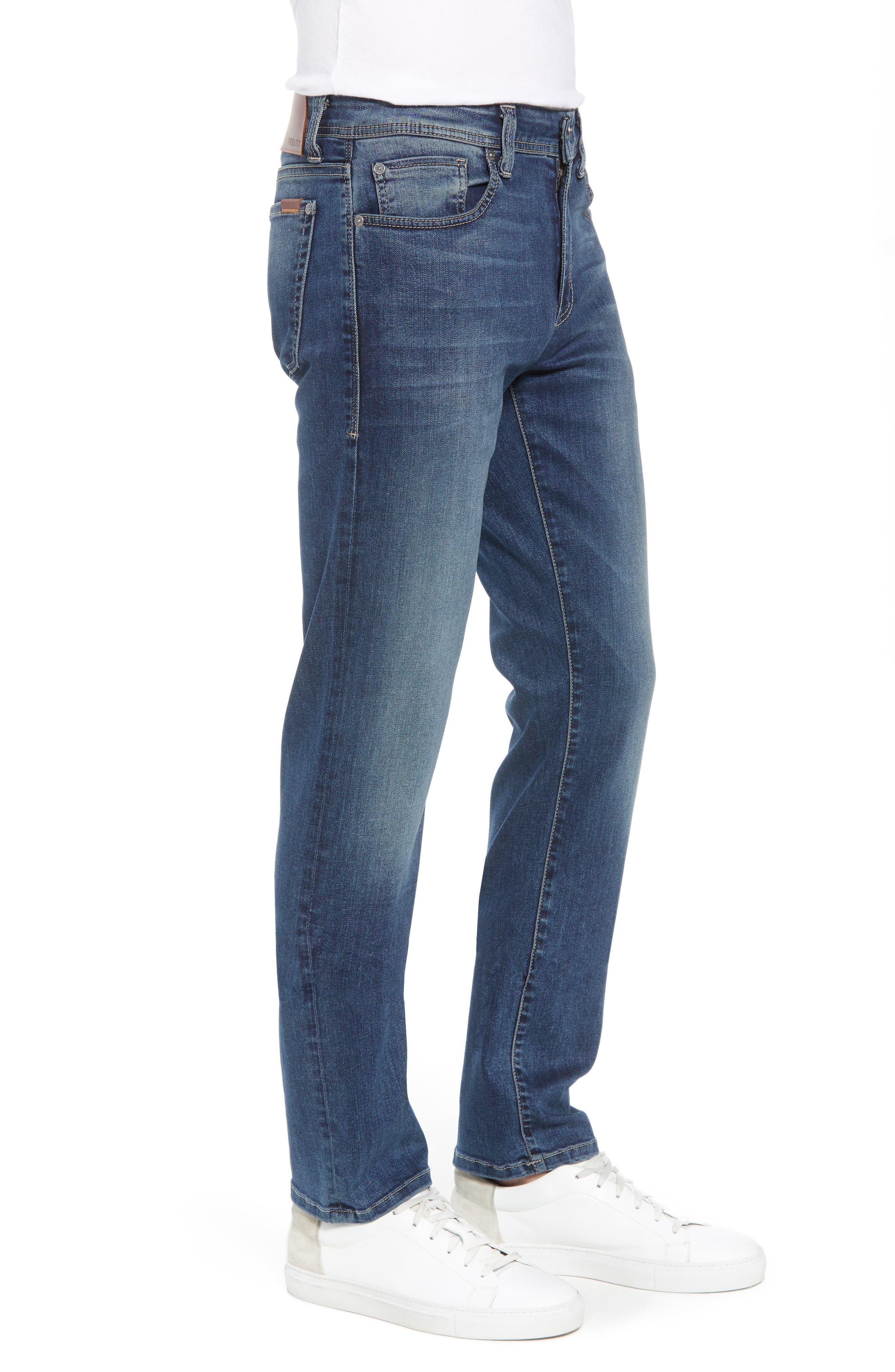 Jimmy Slim Straight Leg Jeans,                             Alternate thumbnail 3, color,                             Satori Blue