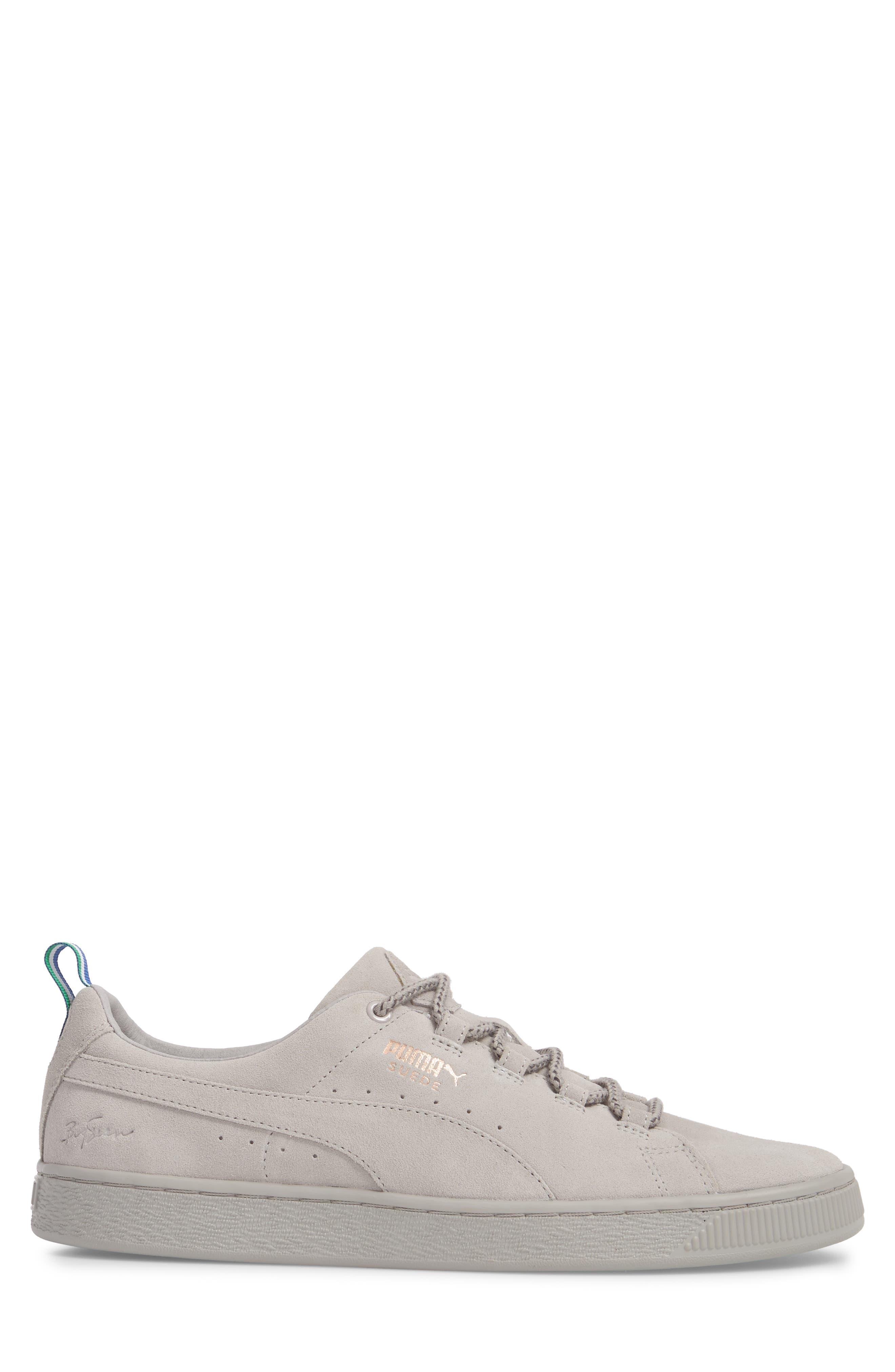 x Big Sean Suede Sneaker,                             Alternate thumbnail 3, color,                             Ash Leather/ Suede