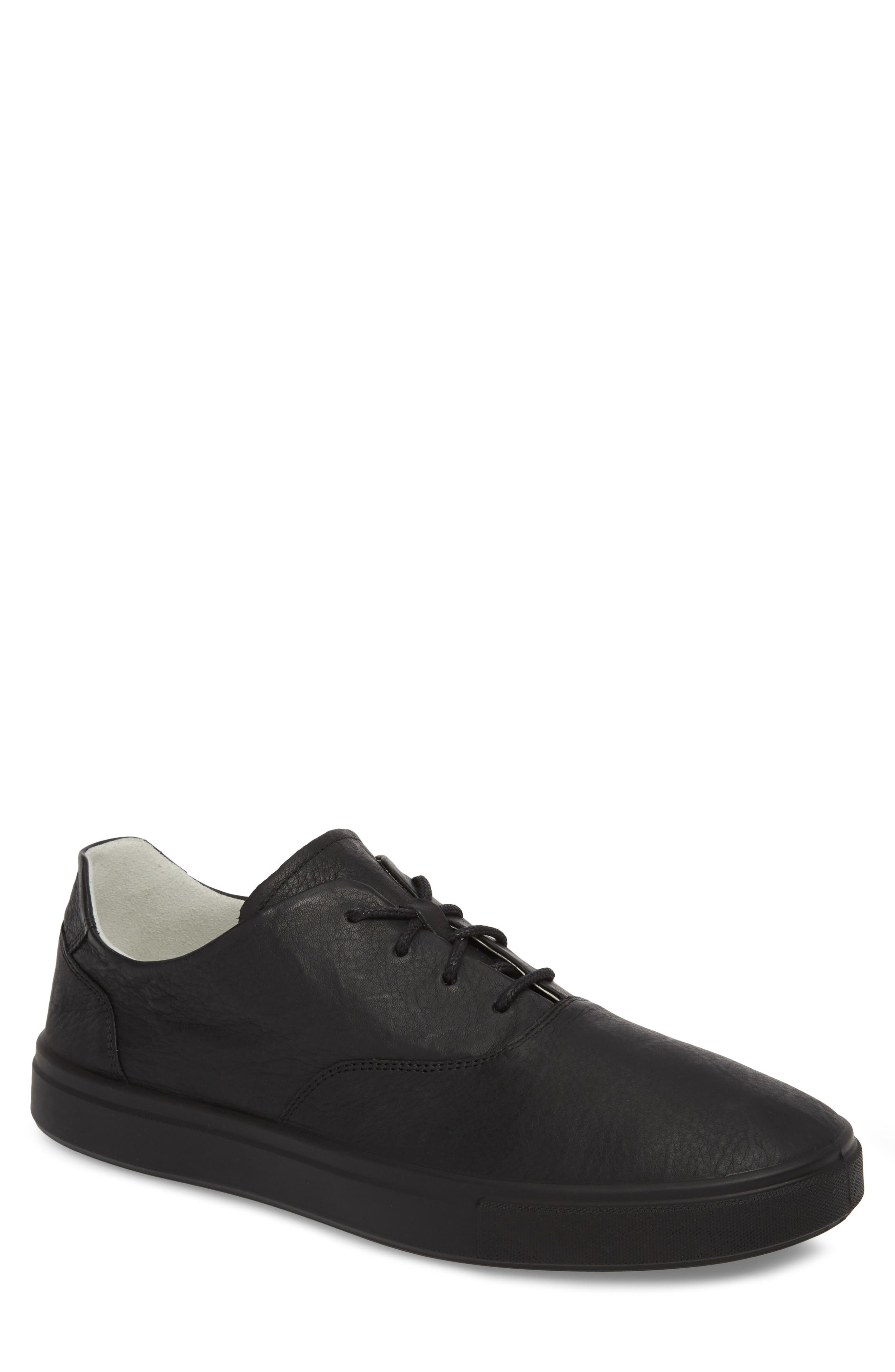 Kyle Low Top Sneaker,                             Main thumbnail 1, color,                             Rinsed Black Leather
