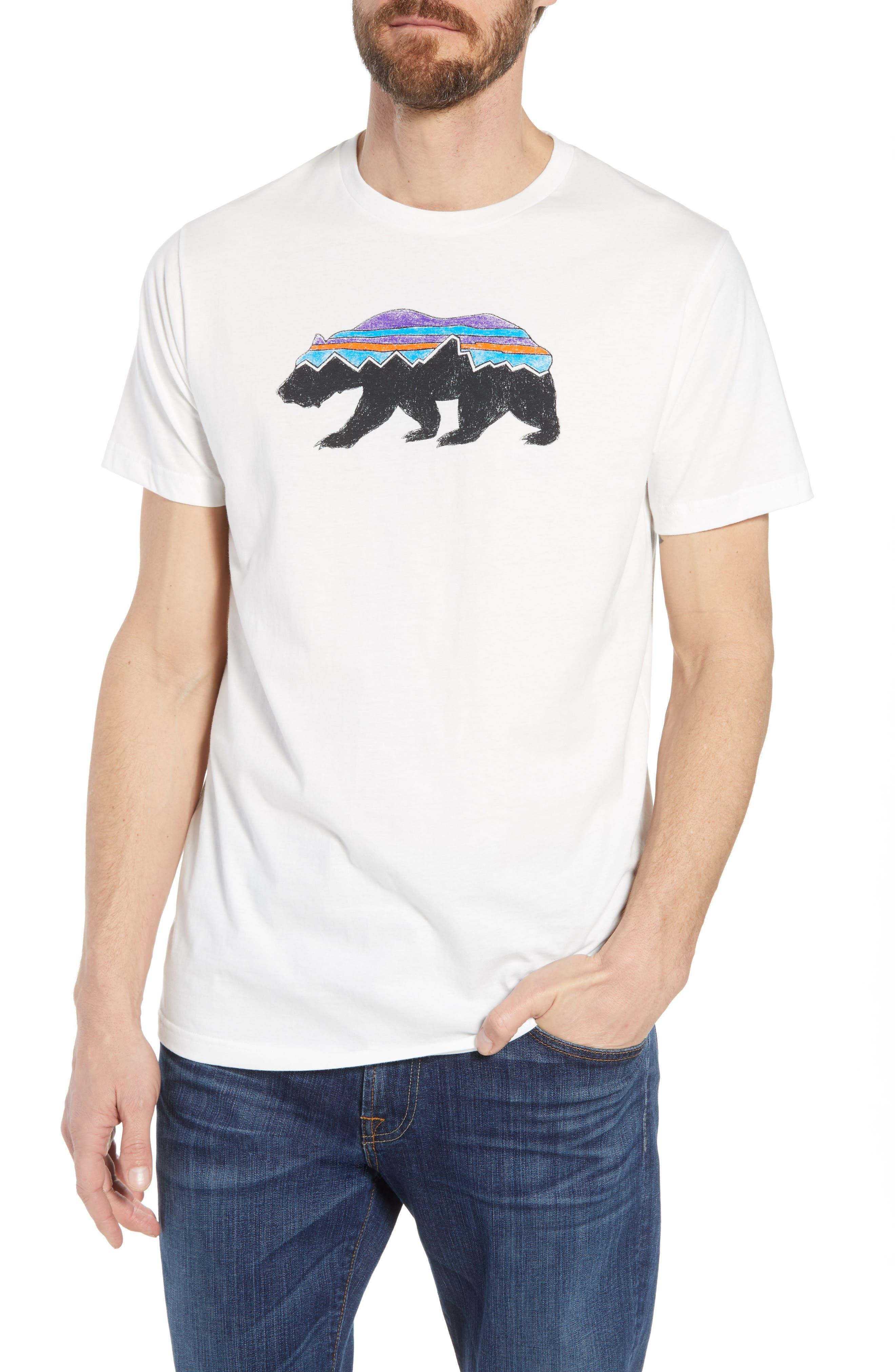 Fitz Roy Bear Crewneck T-Shirt,                         Main,                         color, White