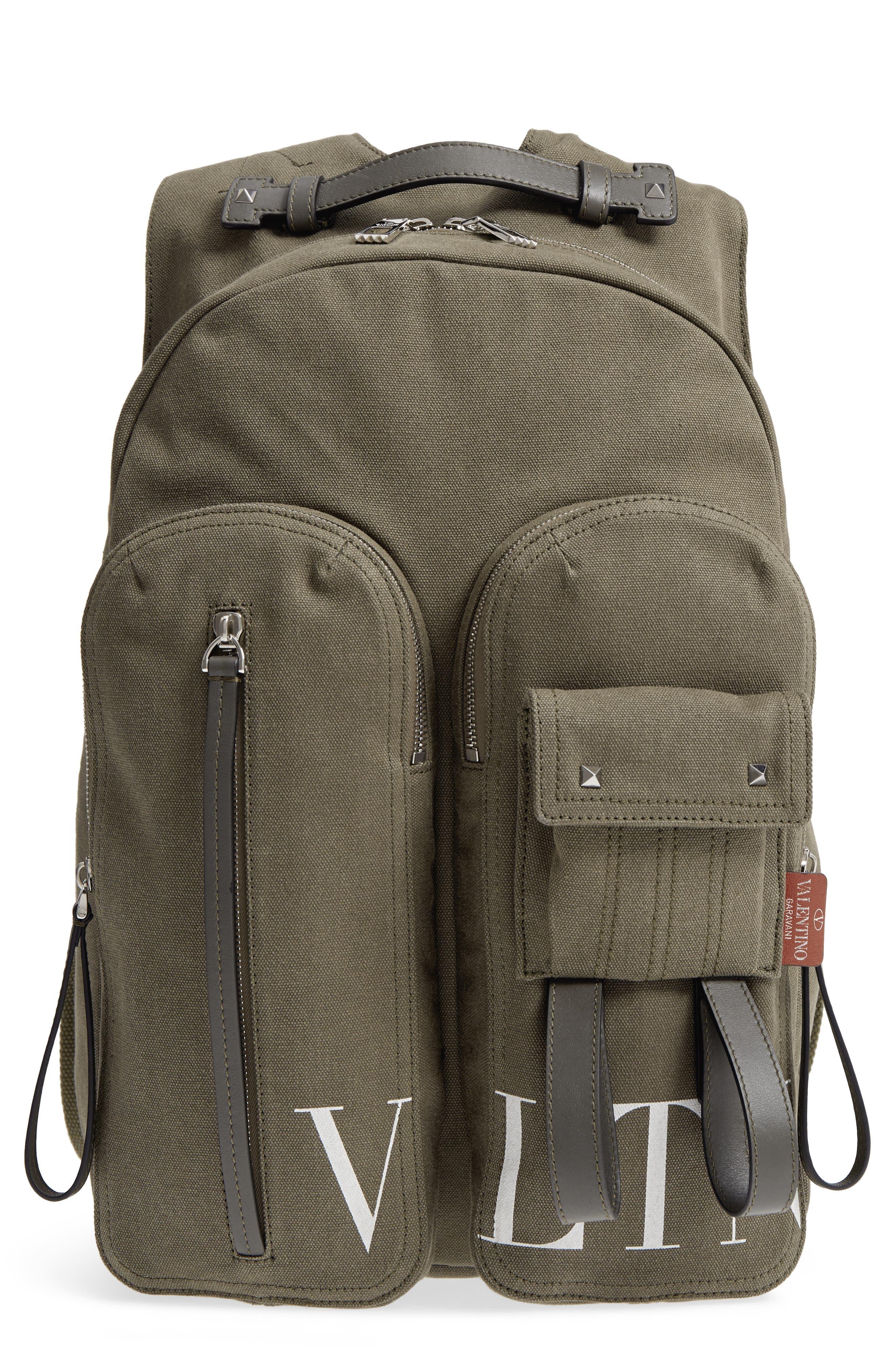 GARAVANI Canvas Military Backpack,                             Main thumbnail 1, color,                             L90 Olive