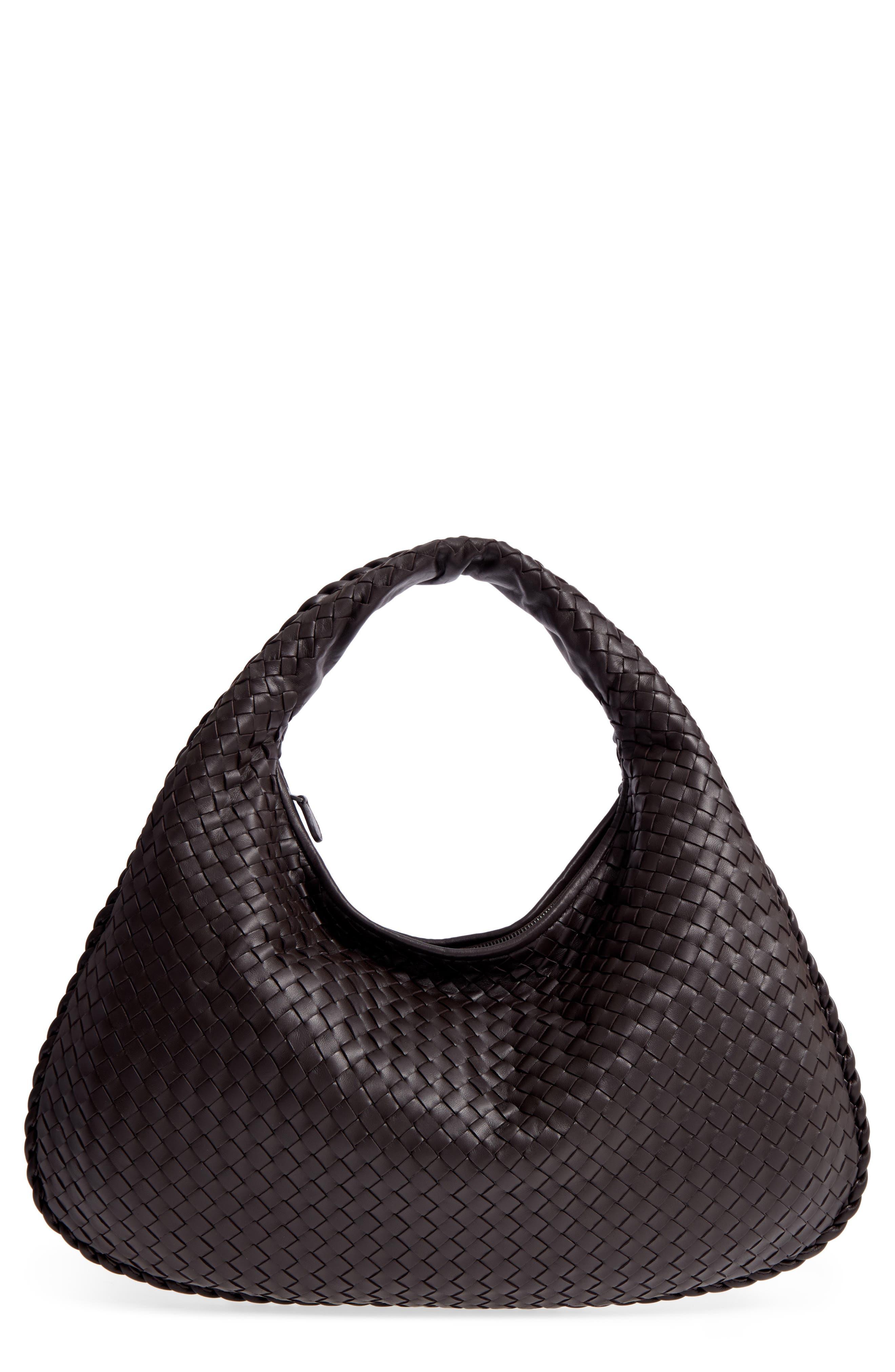 Large Veneta Leather Hobo,                         Main,                         color, 2074 Espresso
